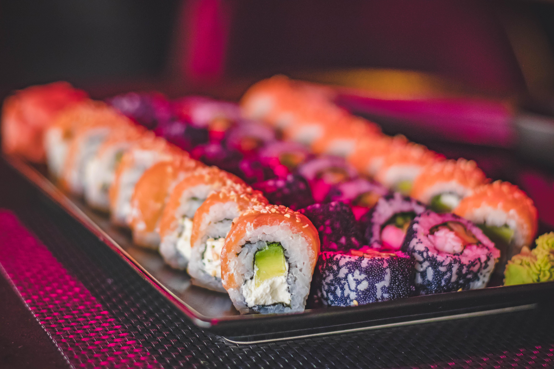 Sushi Rolls, Avocado, Restaurant, Wasabi, Tuna, HQ Photo