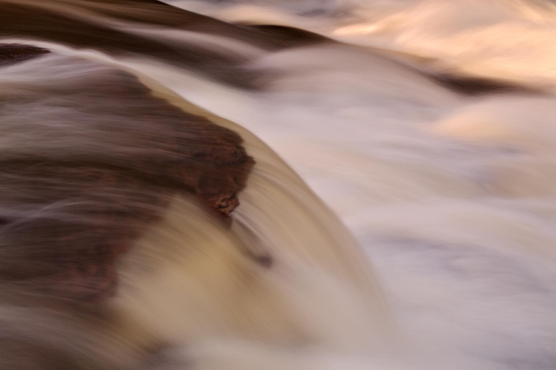 Swallow falls close-up - abstract hdr photo