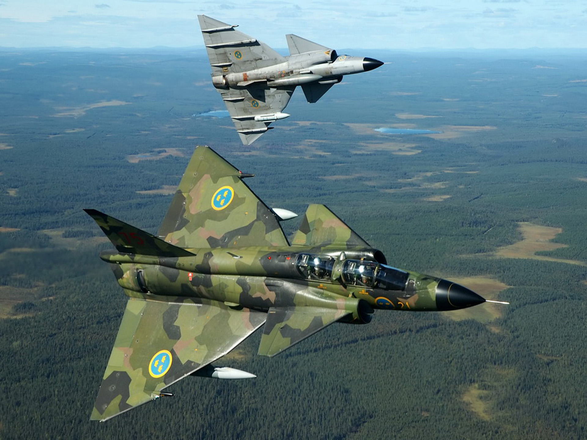 Swedish jetfighter photo