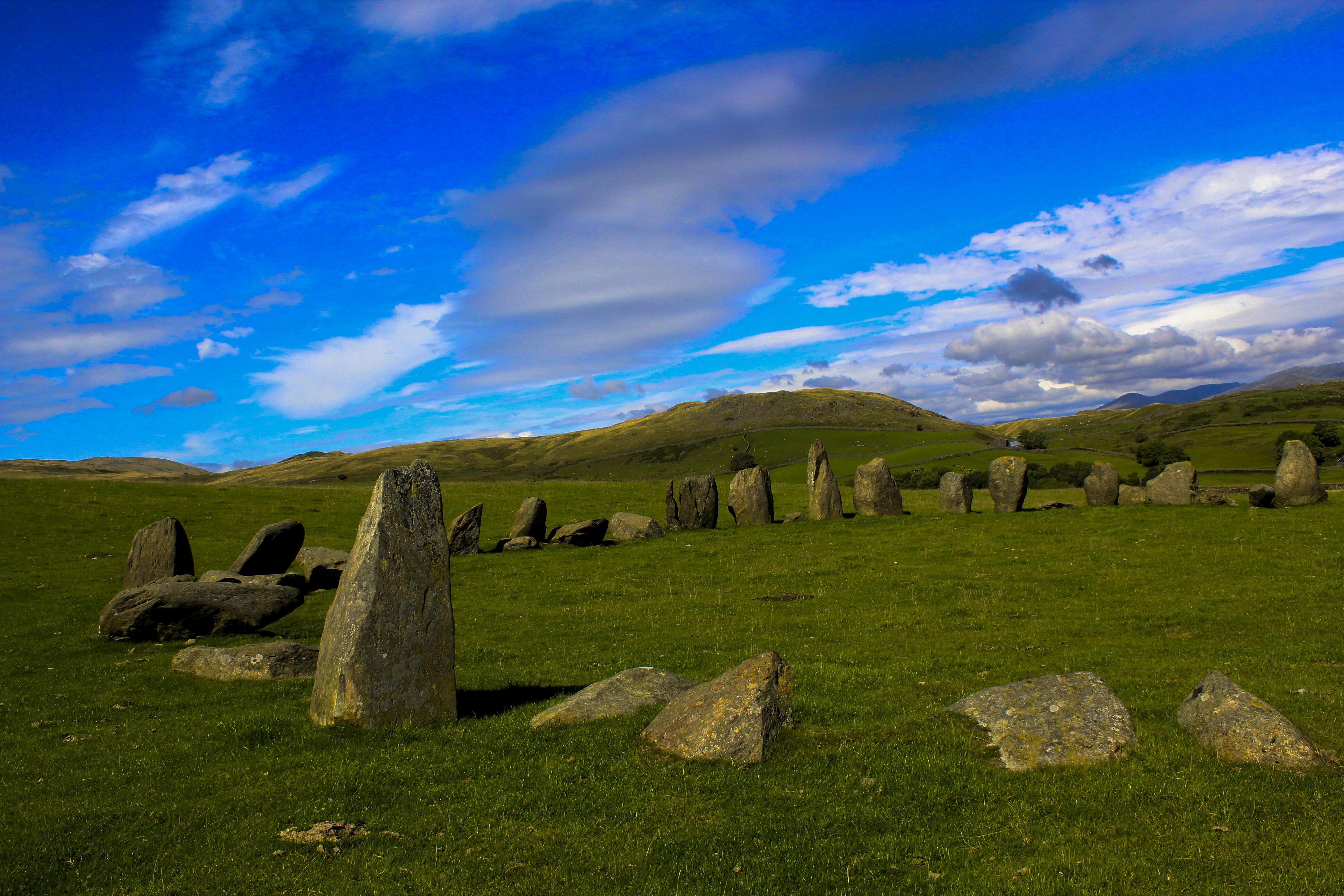 Swinside Stone Circle, Ancient, Animal, Blue, Bridge, HQ Photo