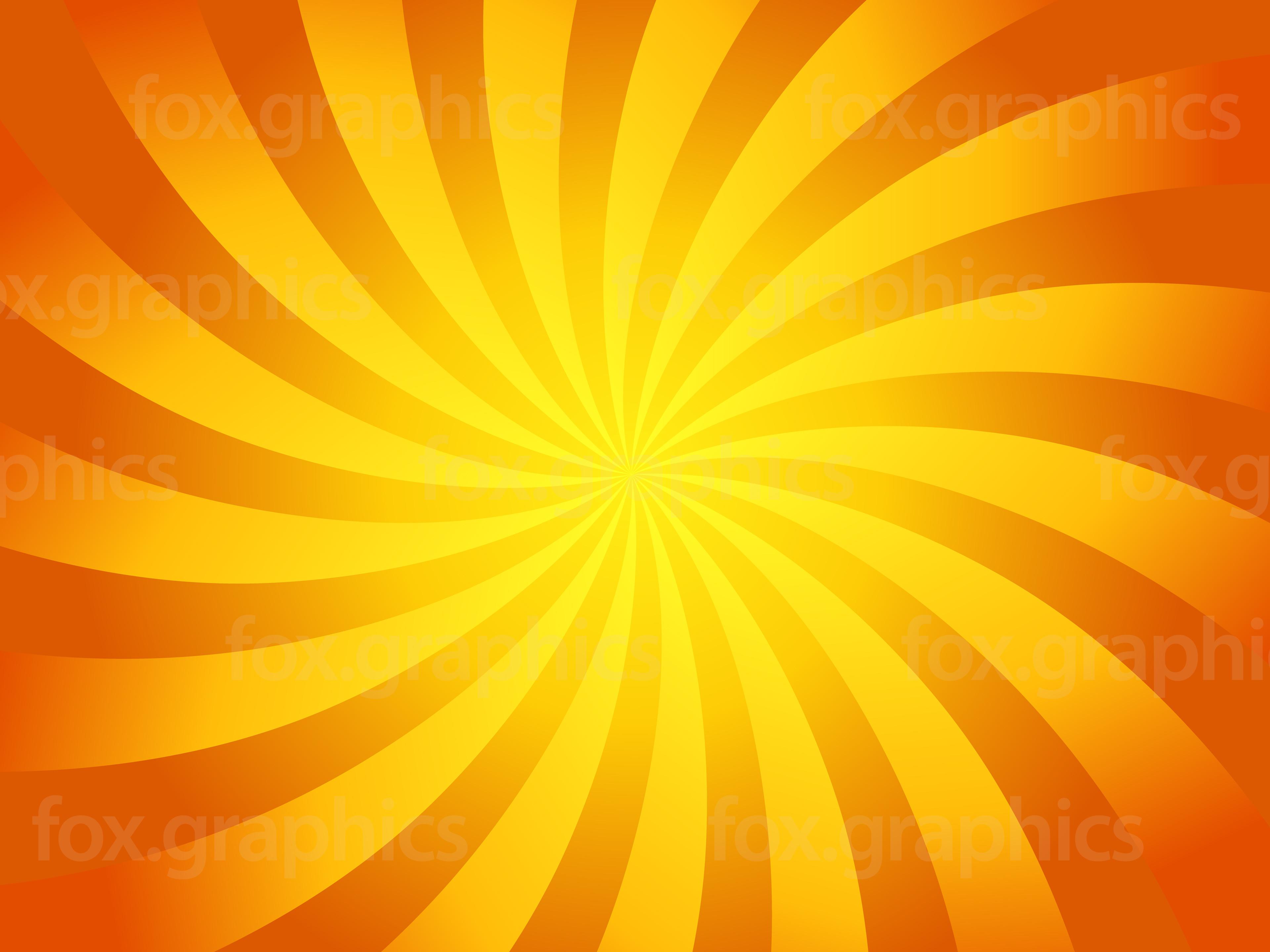 Yellow swirl background - Fox Graphics