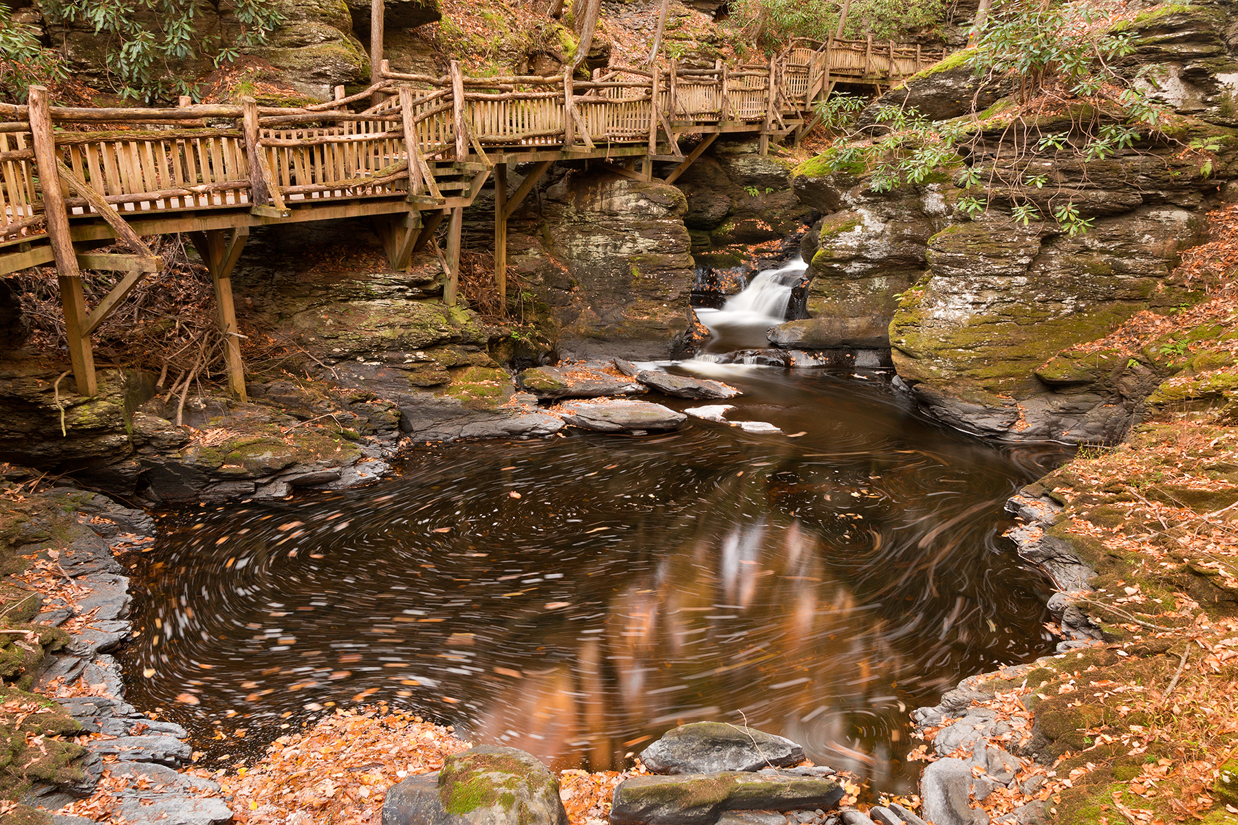 Swirling Bushkill Fall Stream, , Pretty, Scenery, Scene, HQ Photo