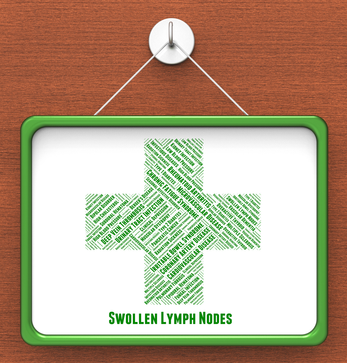 Swollen lymph nodes shows ill health and affliction photo