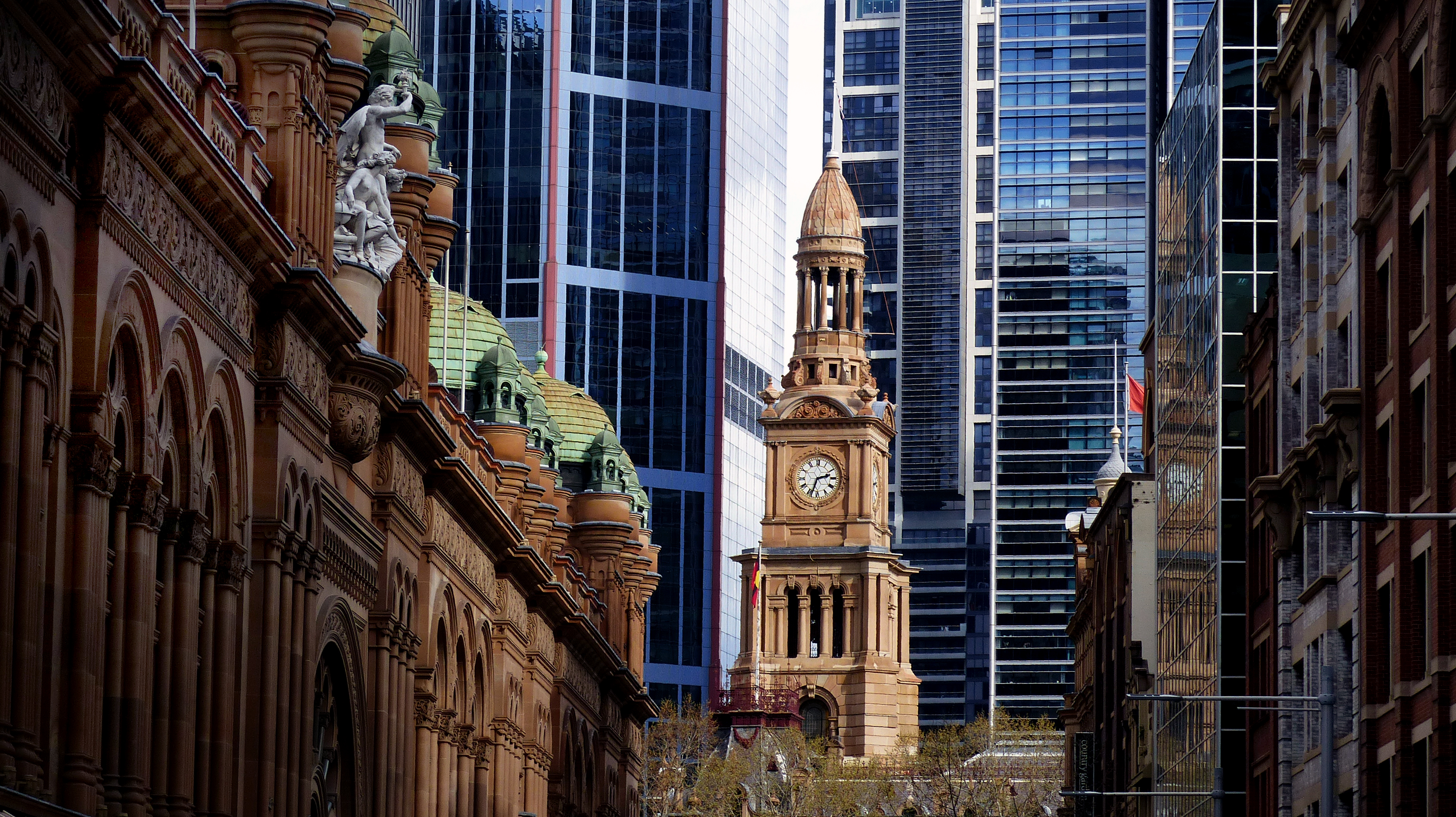 Sydney Town Hall clock tower., Architecture, Building, Cityscape, Clock, HQ Photo