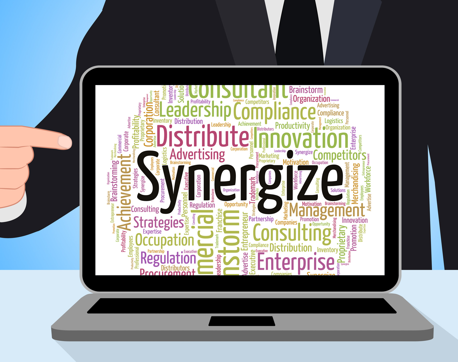Free photo: Synergize Word Represents Work Together And Cooperation