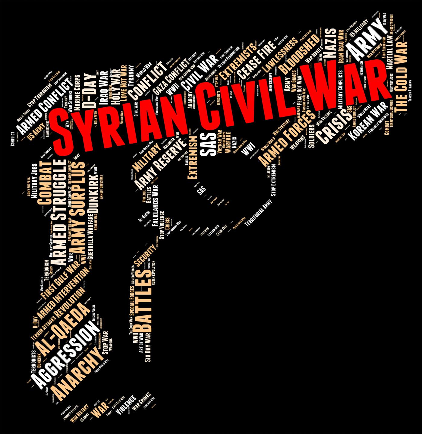 Syrian civil war represents bashar al-assad and administration photo
