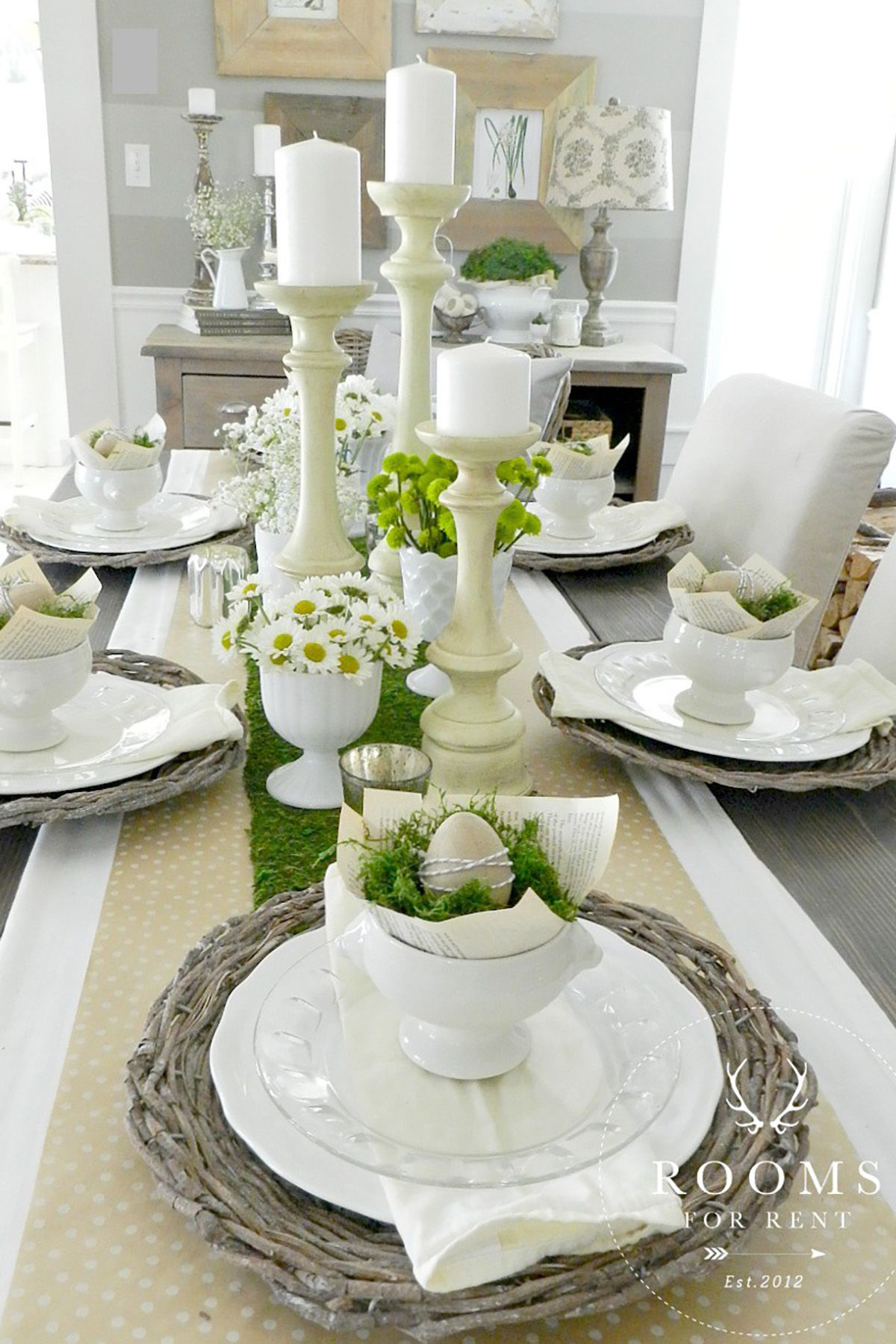 40+ Easter Table Decorations - Centerpieces for Easter