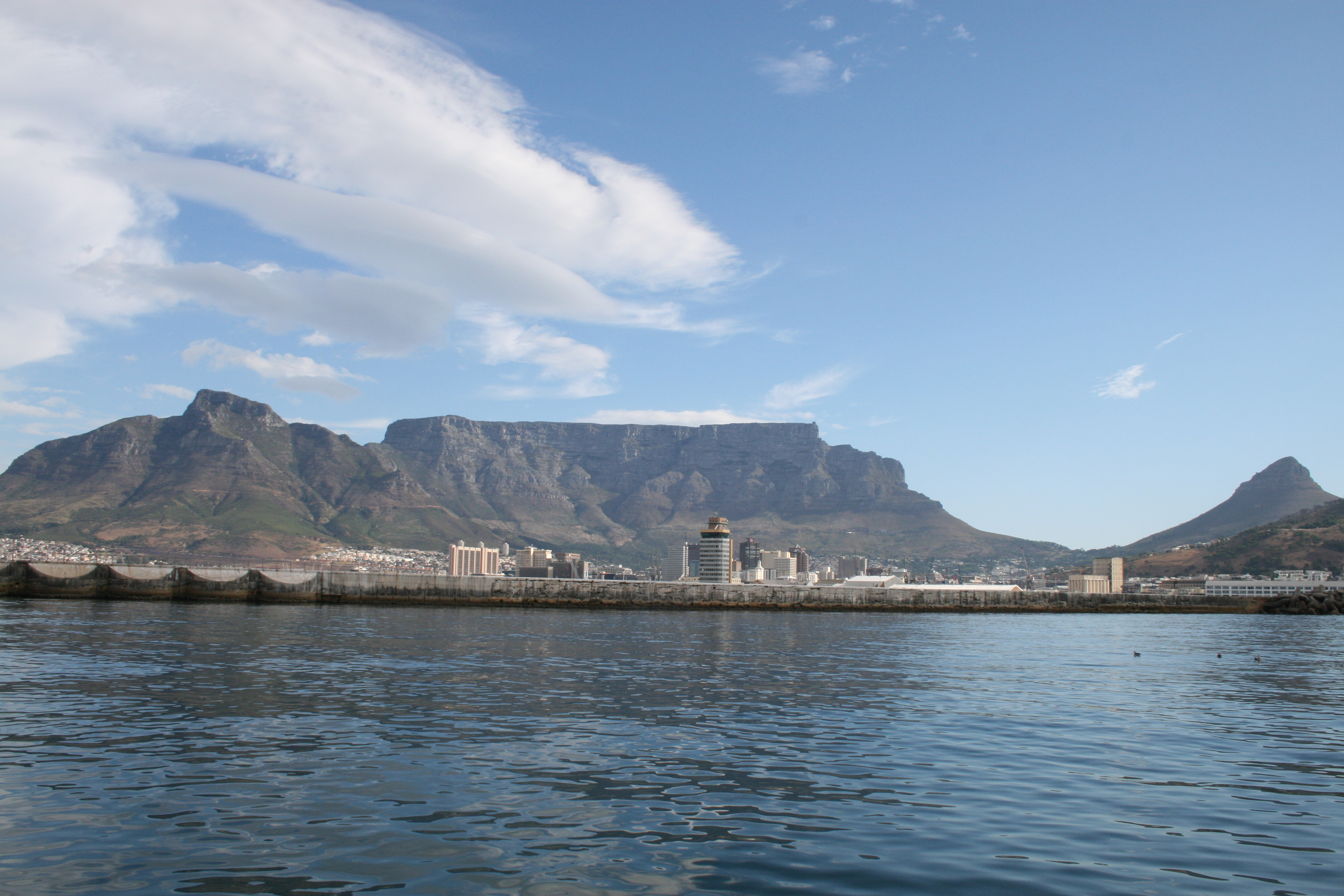 Table mountain from table bay photo
