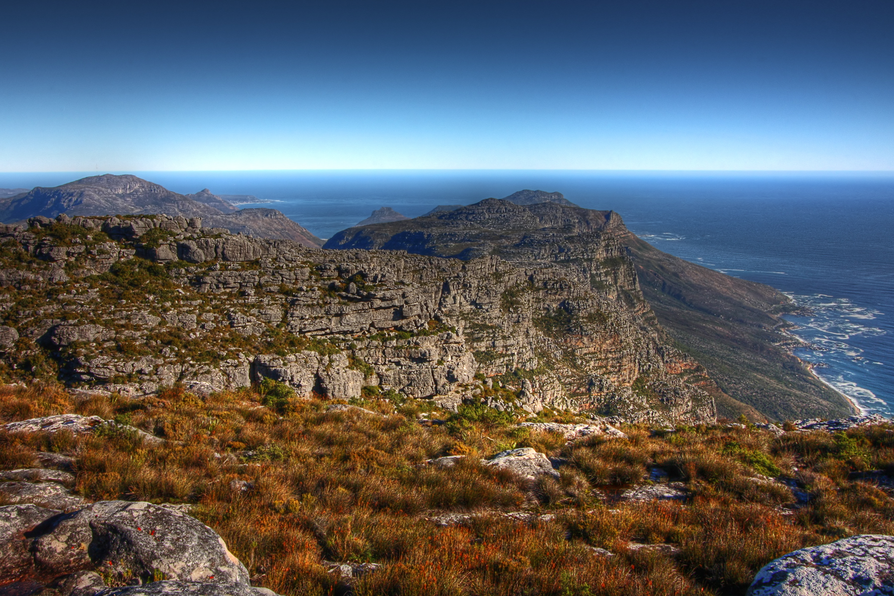 Table Mountain Scenery - HDR, Africa, South, Rock, Rocks, HQ Photo