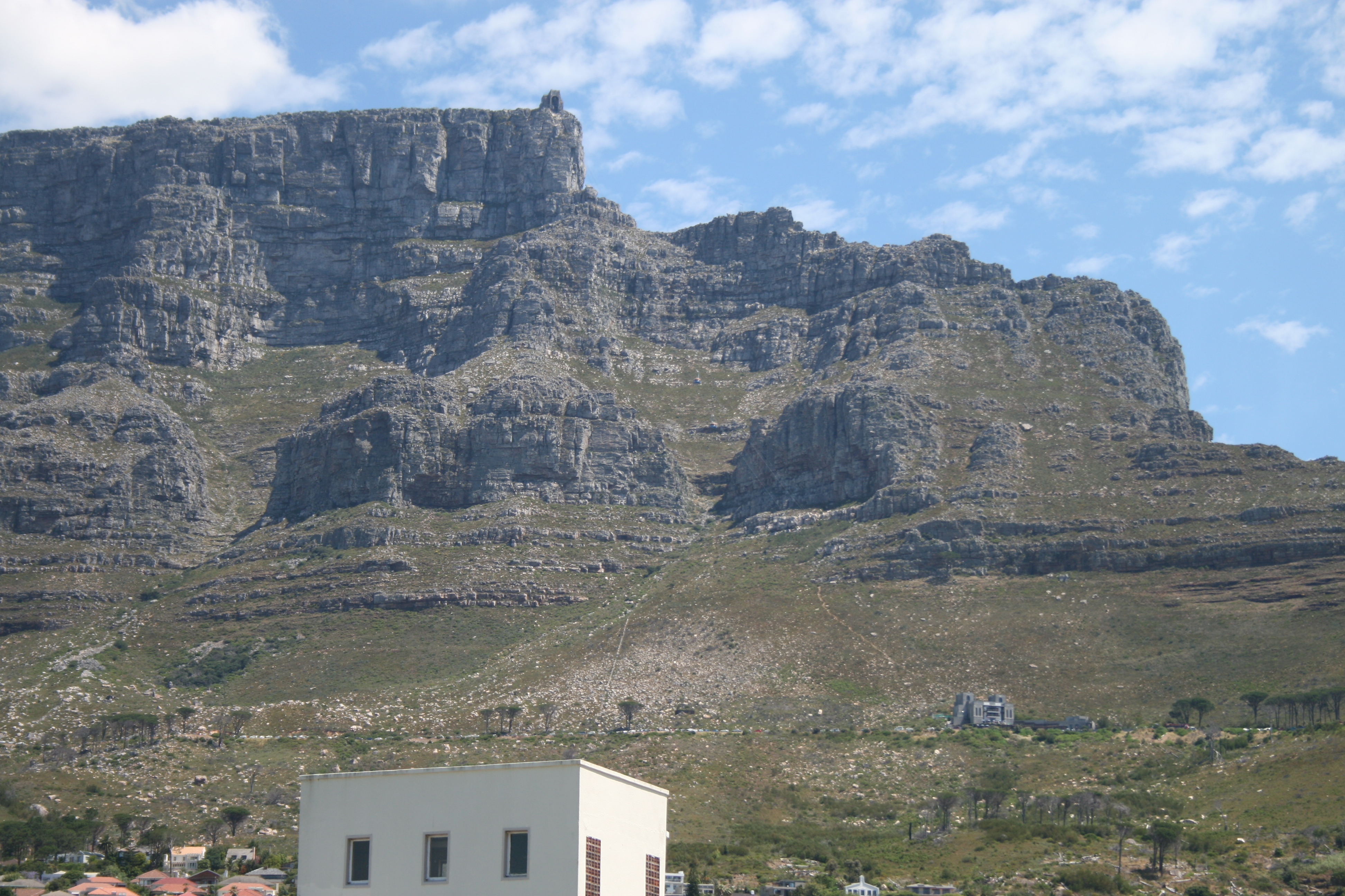 Table mountain with cable station photo