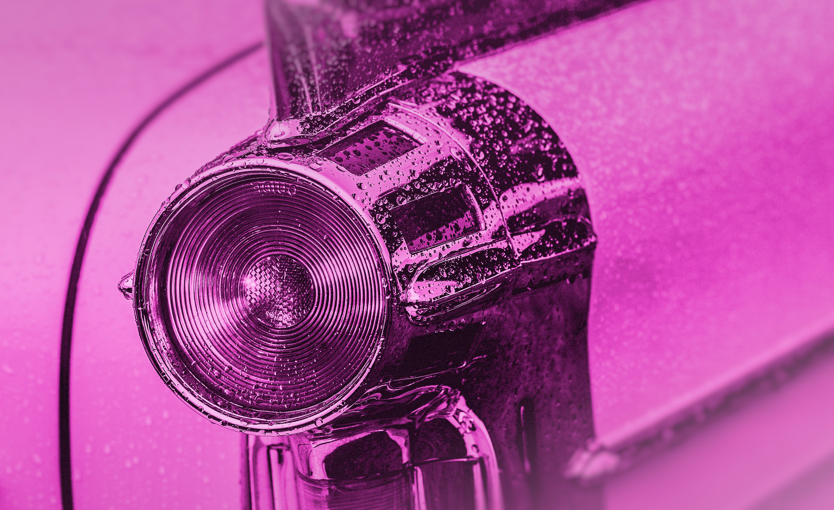 Tail light - fifties classic car - colorized photo