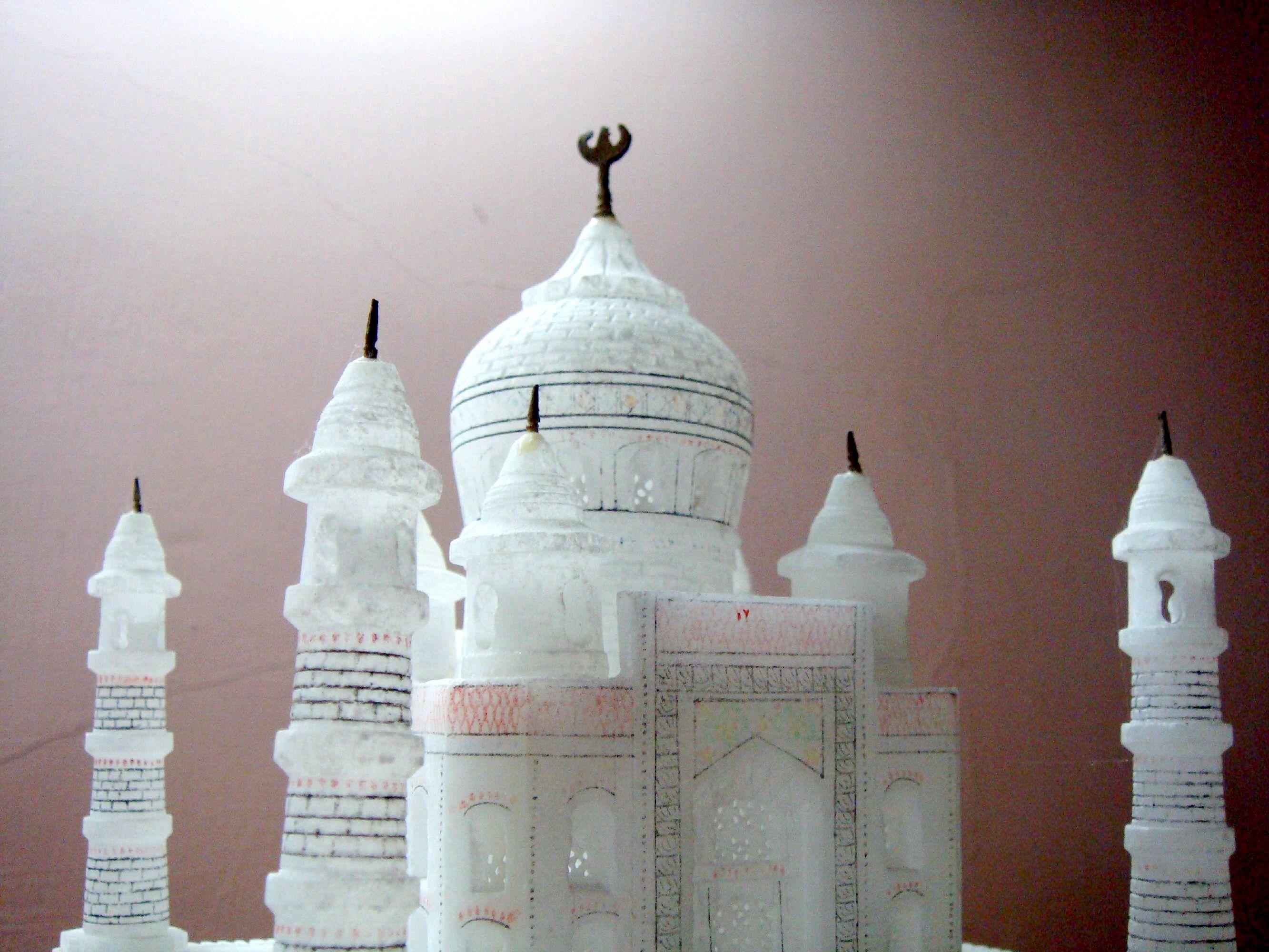 Taj Mahal, Candles, Dome, Mahal, Miniature, HQ Photo
