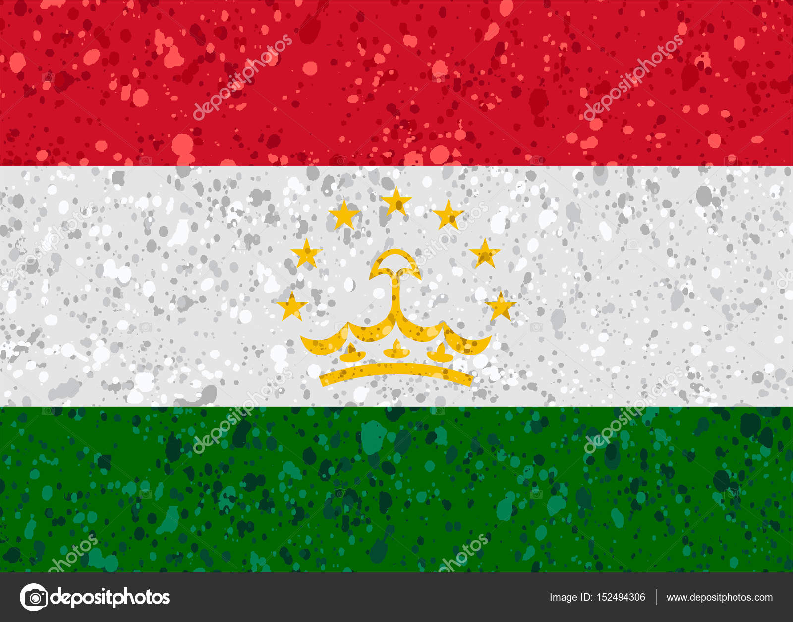 Tajikistan grunge flag photo