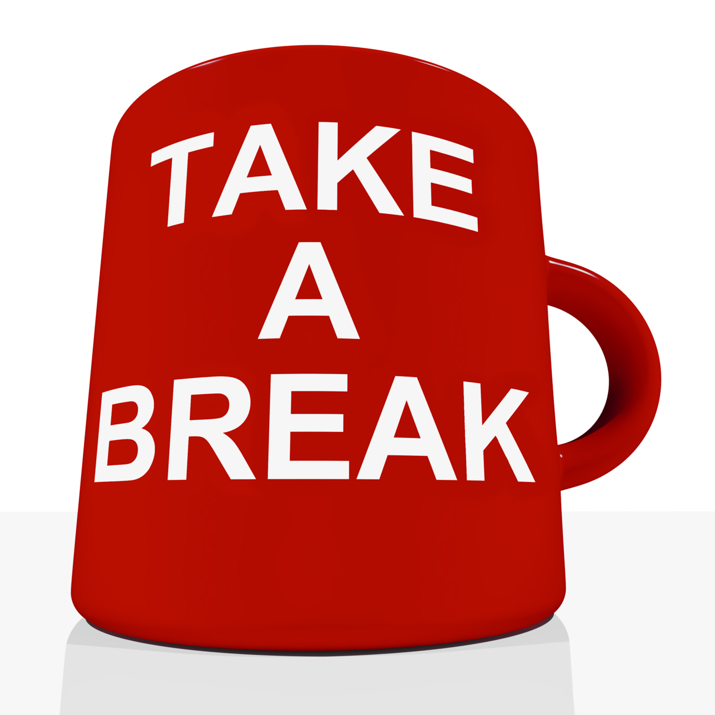 Take a break mug showing relaxing and tiredness photo
