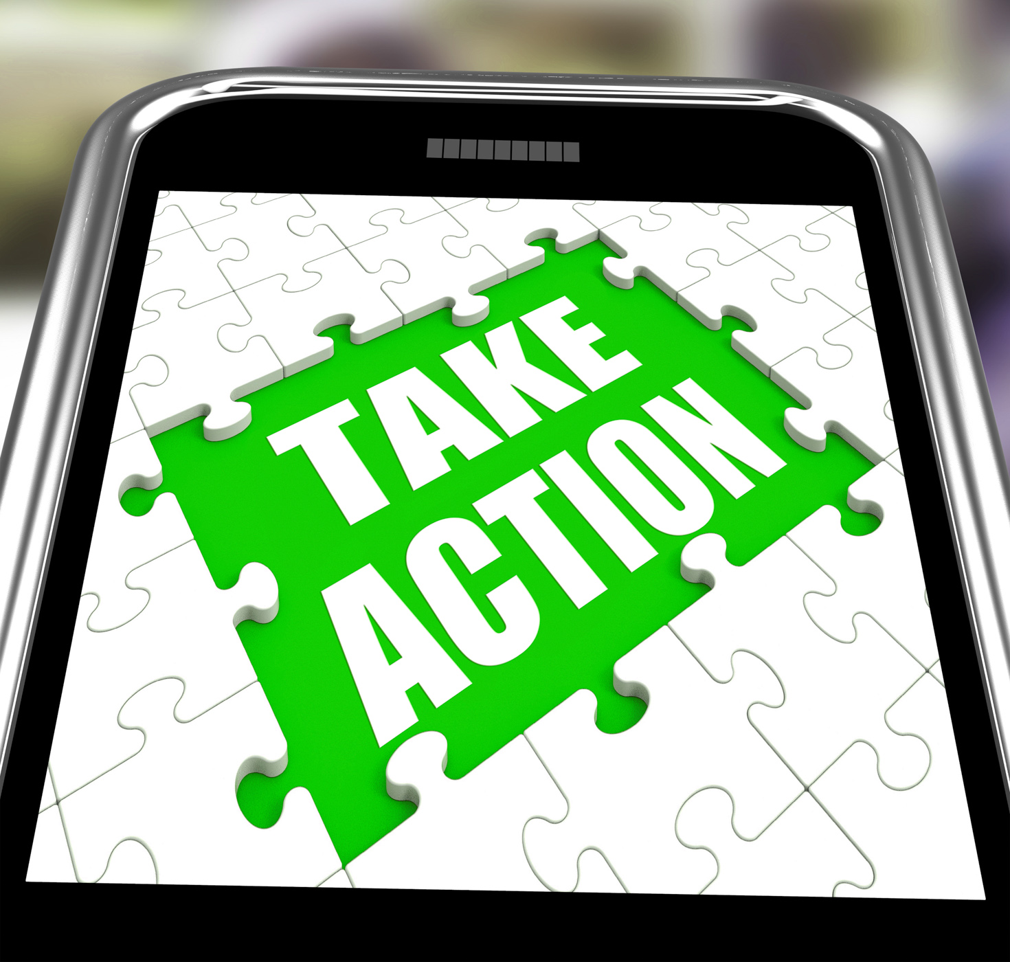 Take action smartphone means urge inspire or motivate photo