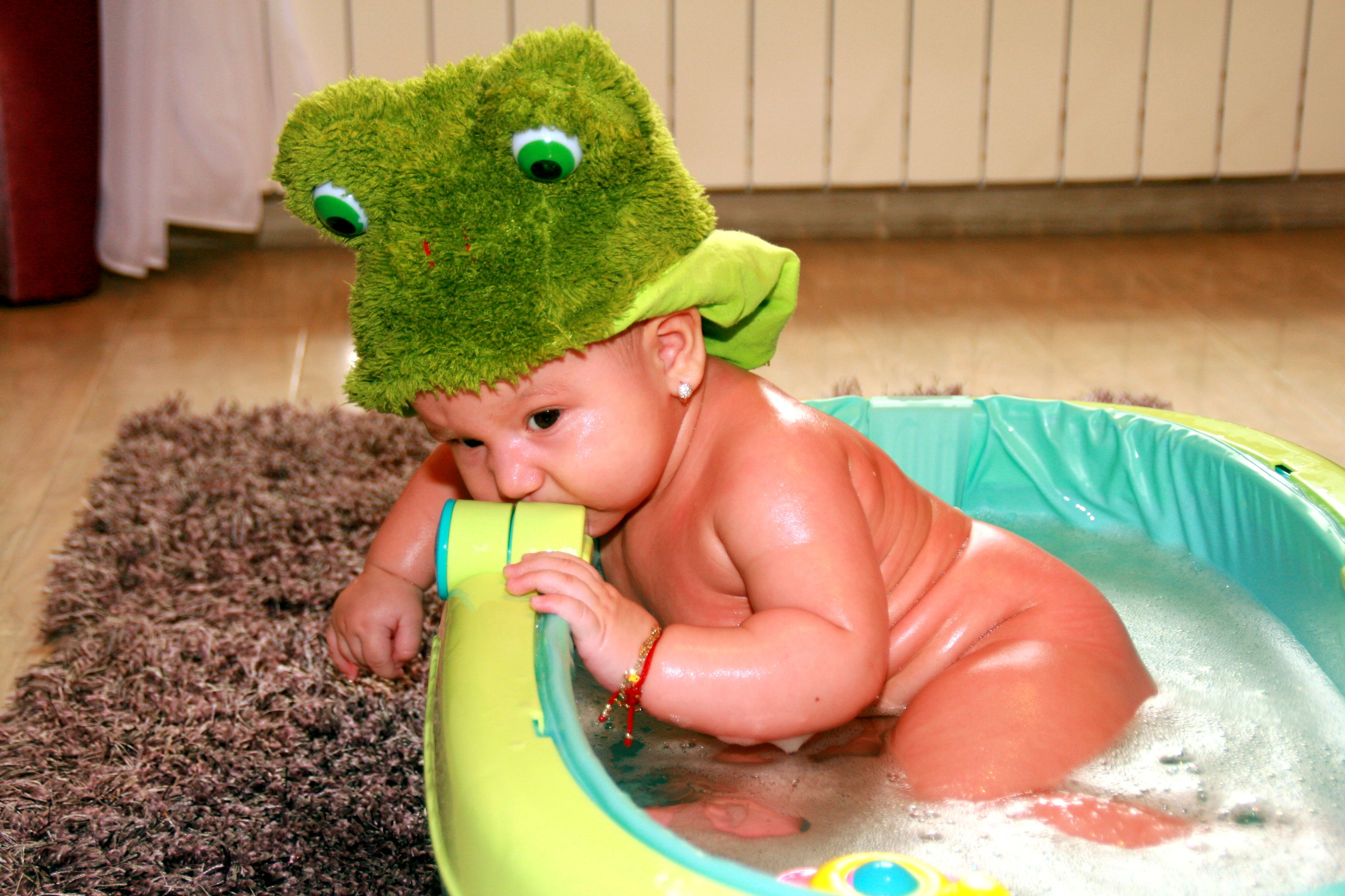 Taking bath photo