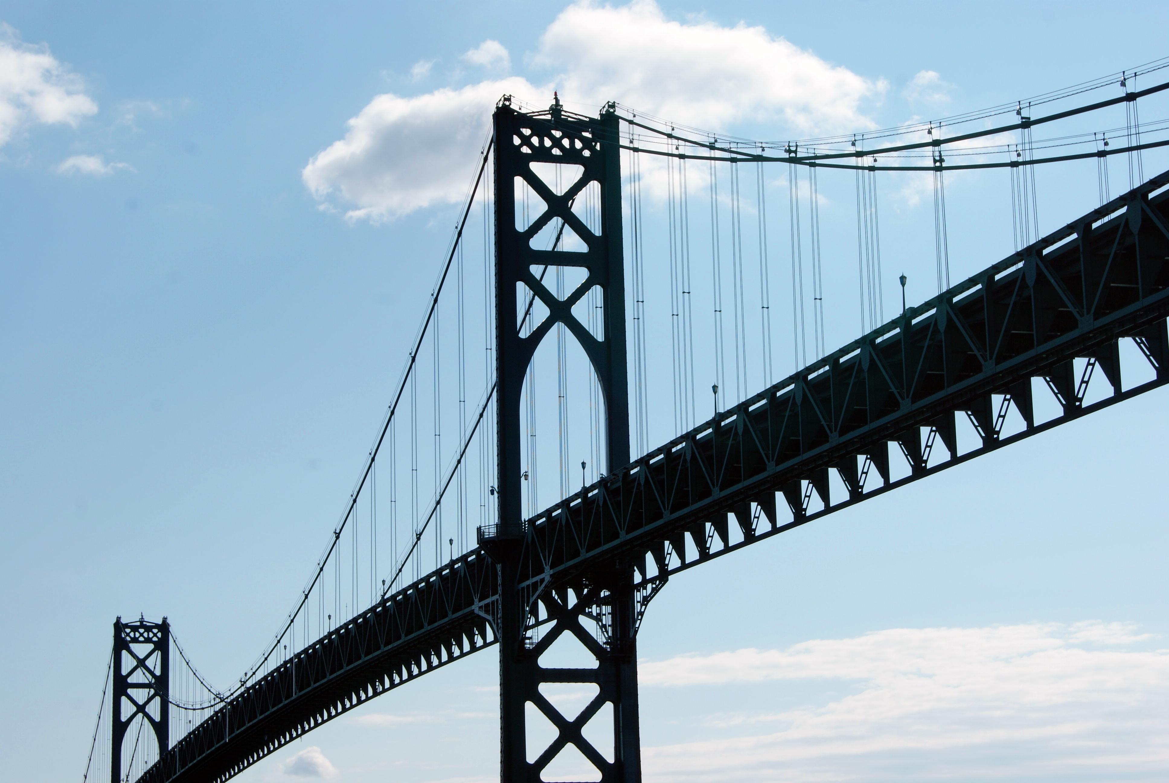 Tall steel bridge photo