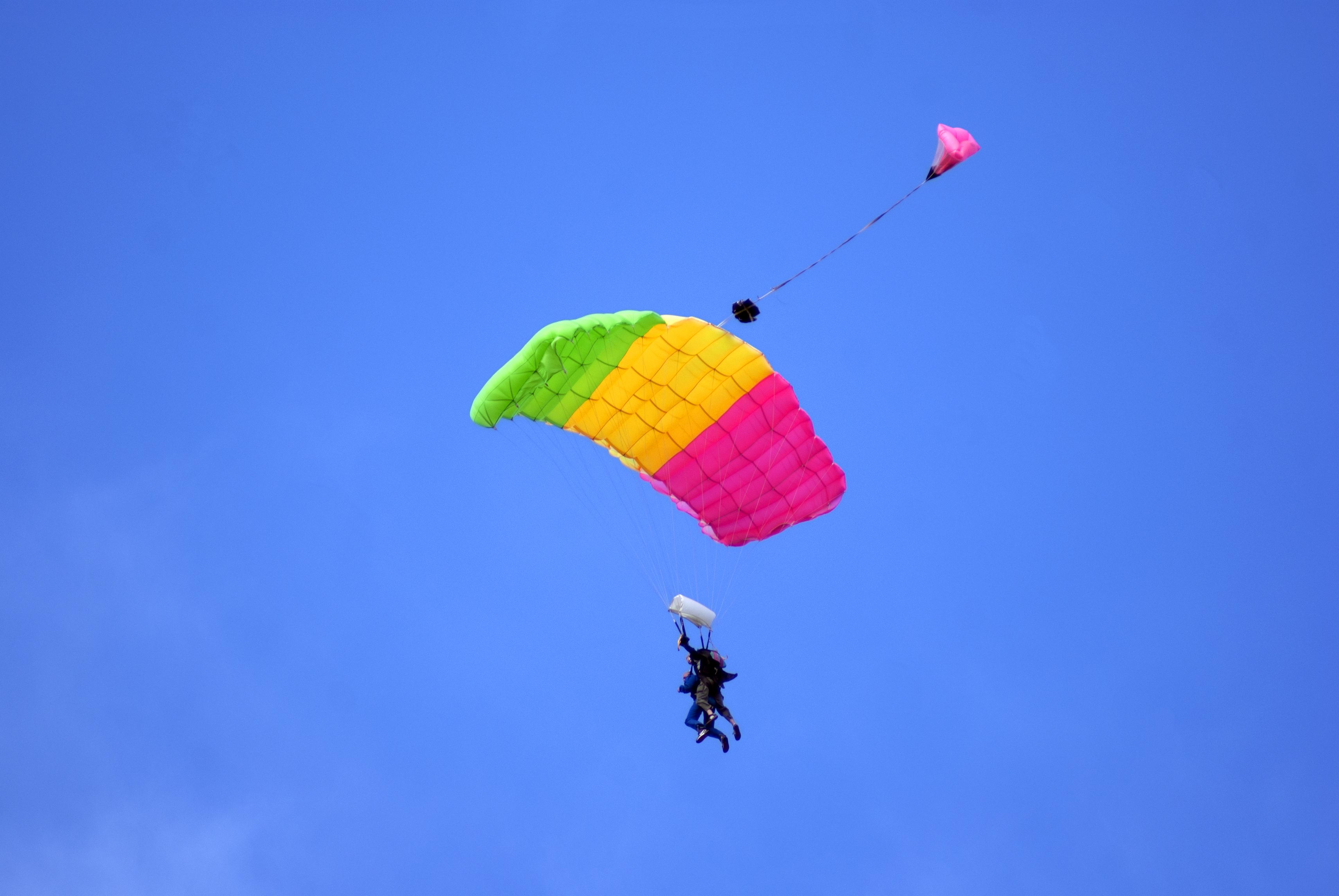 Tandem parachuting photo