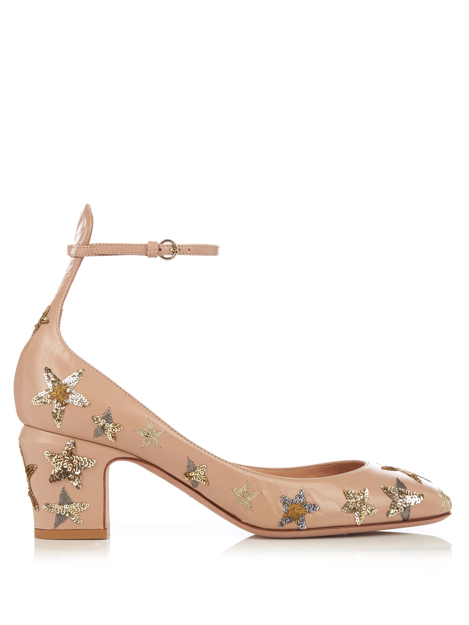VALENTINO Tango star-embellished leather pumps | Hello Lover ...
