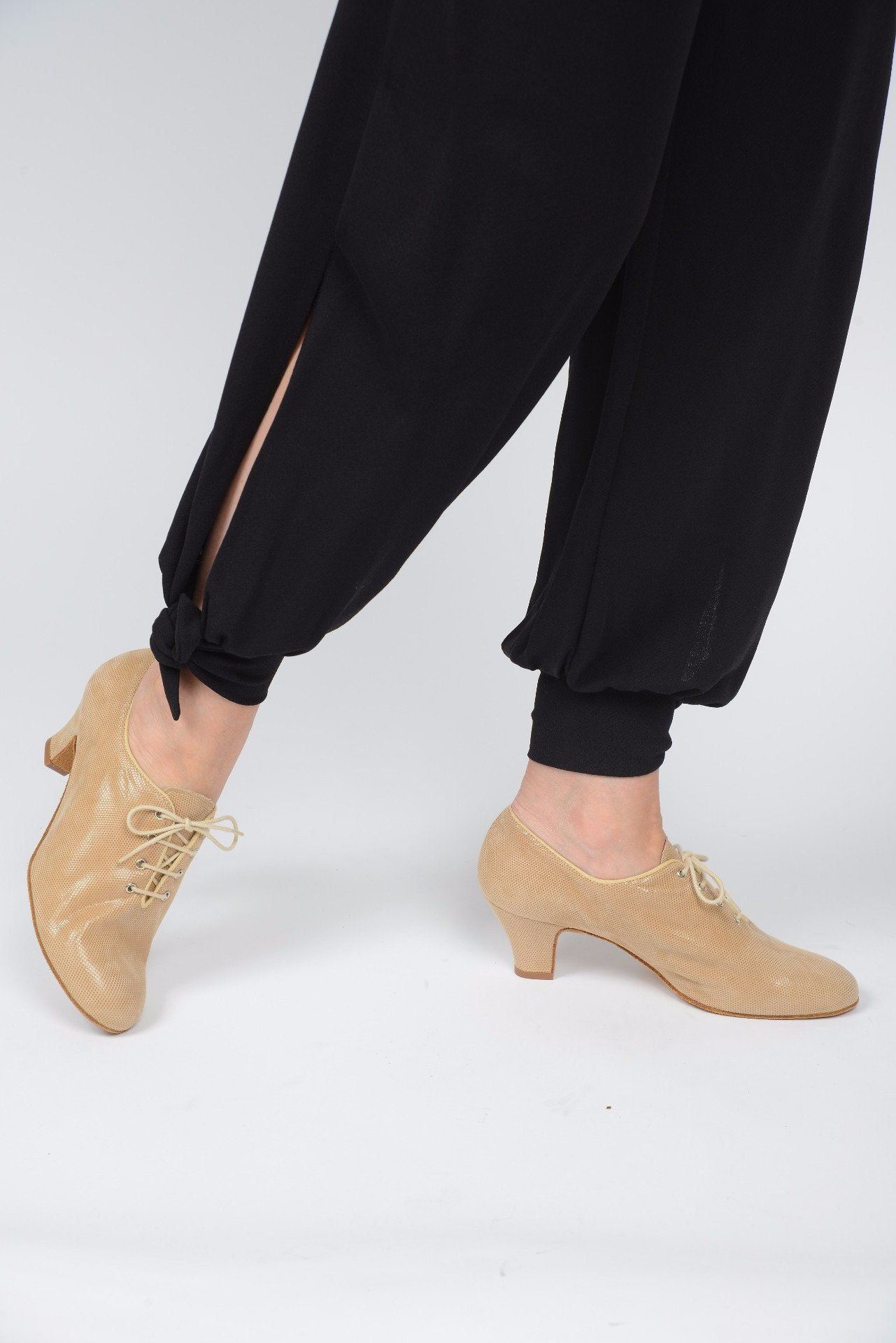 Italian Tango Shoes: Trainers - Beige Lame Leather by Paoul - Axis Tango