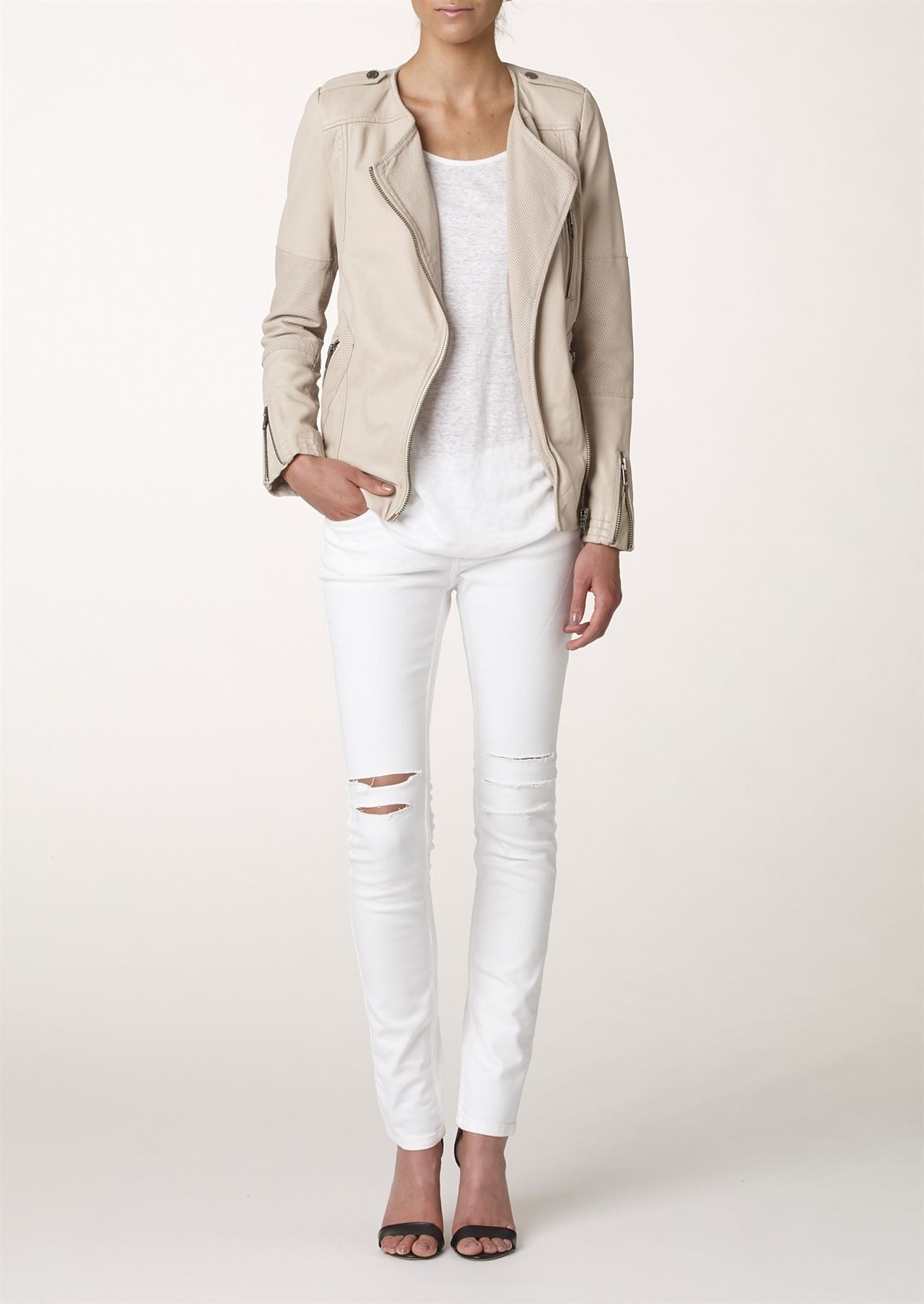 Twist & Tango | Josephine Leather Jacket - Nude | great looks ...