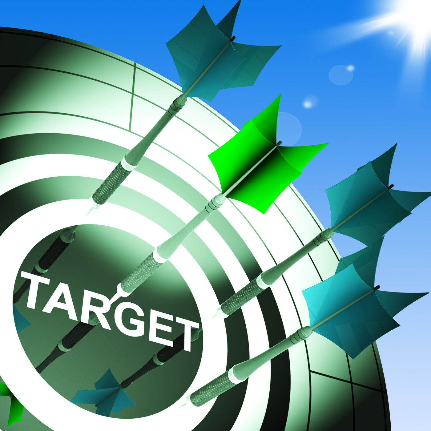 Target On Dartboard Showing Successful Shooting, Objective, Targeting, Target, Successful, HQ Photo