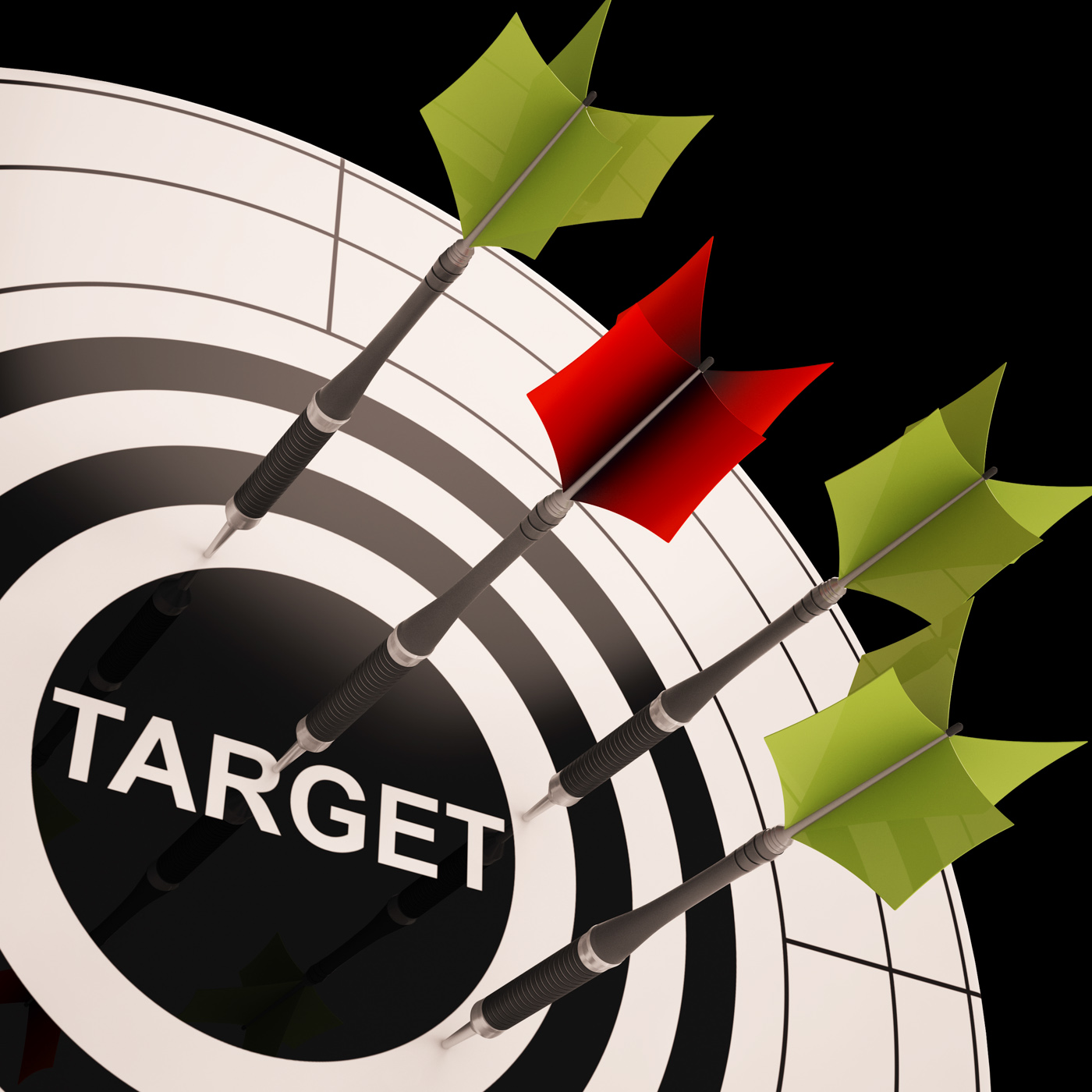 Target On Dartboard Shows Perfect Aiming, Accuracy, Targeting, Target, Successful, HQ Photo