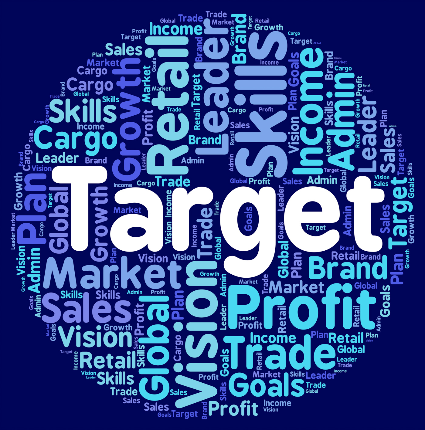Target Word Represents Desired Result And Aim, Aim, Objects, Wordclouds, Wordcloud, HQ Photo
