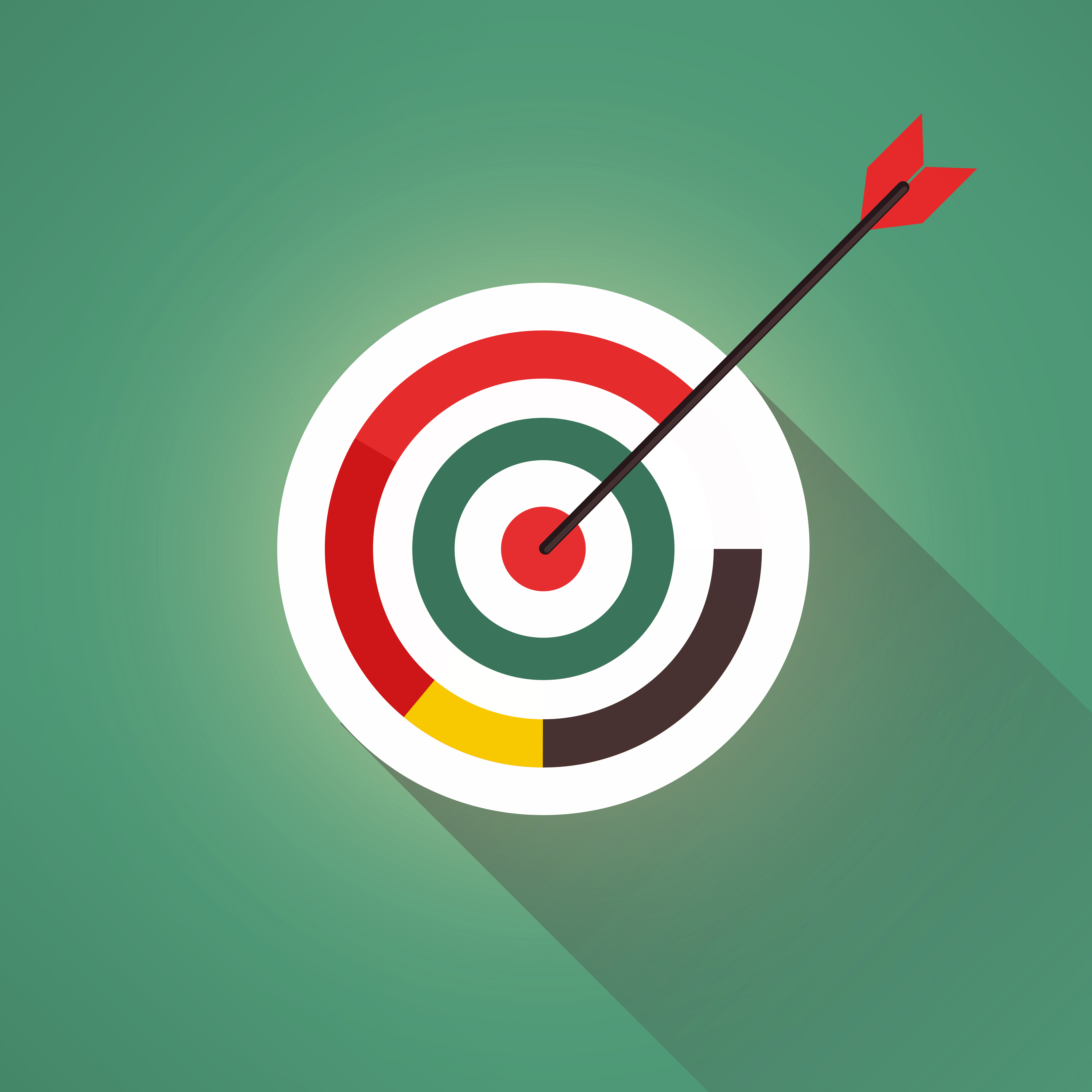 Targeting your audience - arrow and target photo