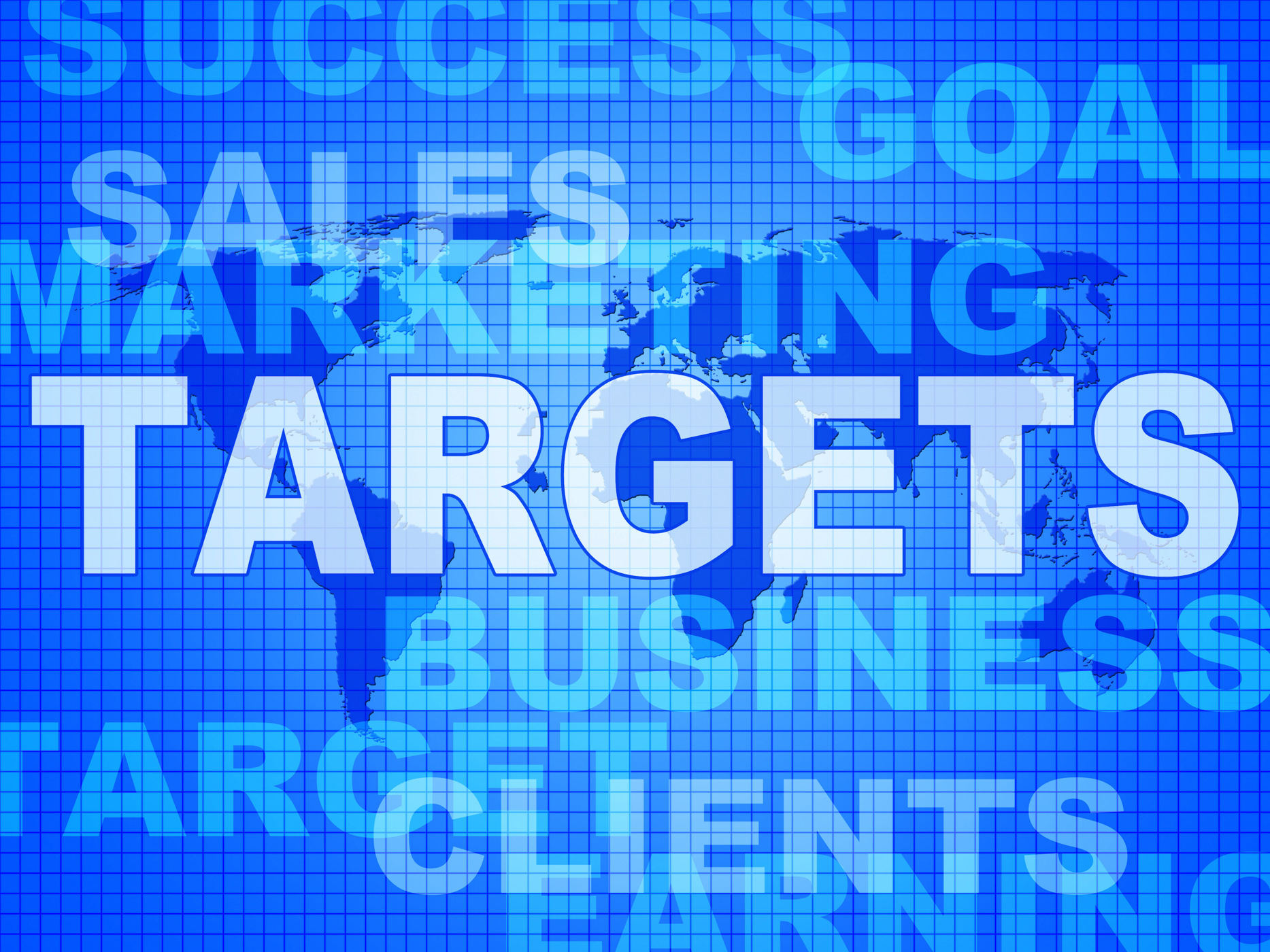 Targets words represents projection business and aiming photo