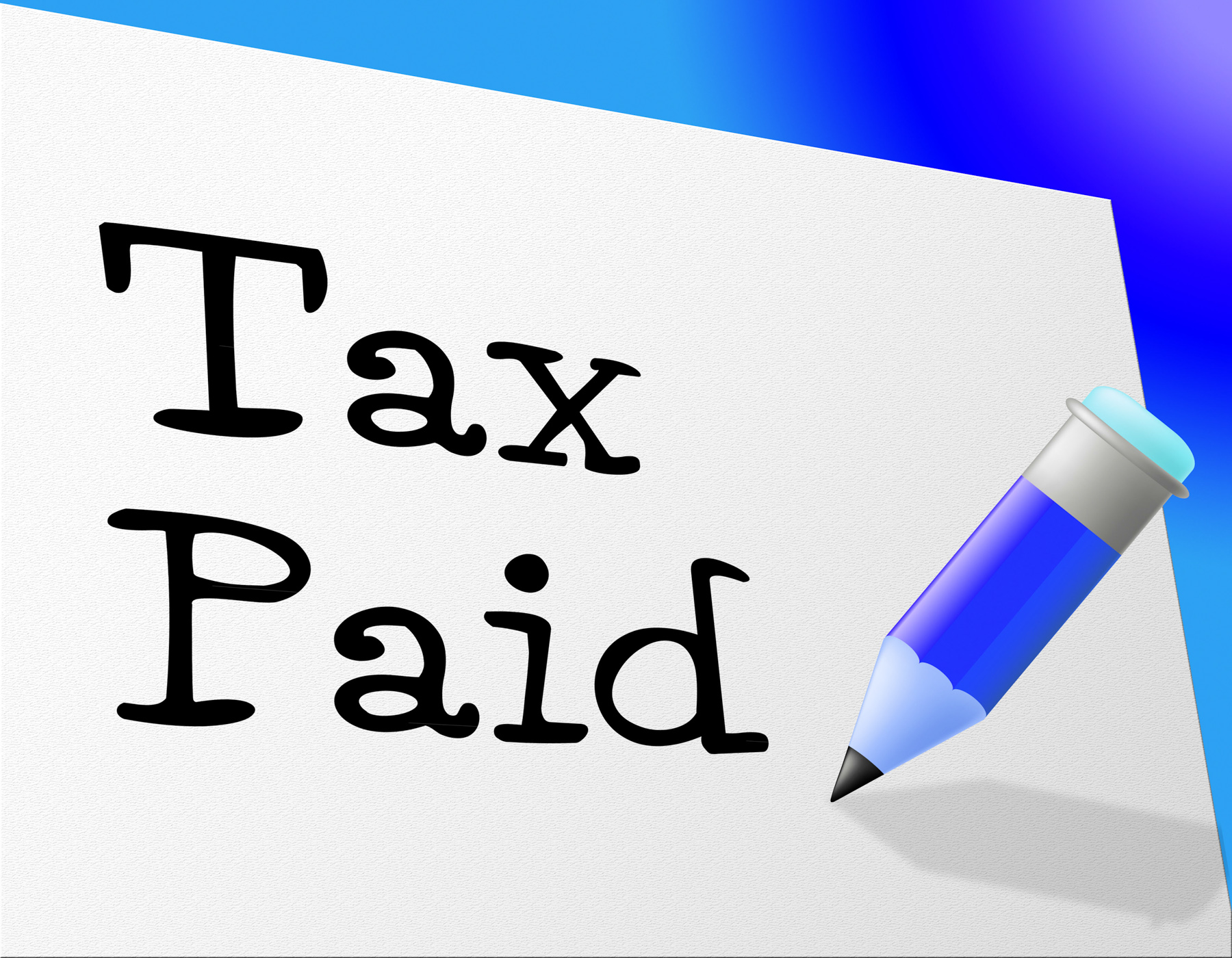 Tax paid represents pay bills and payment photo