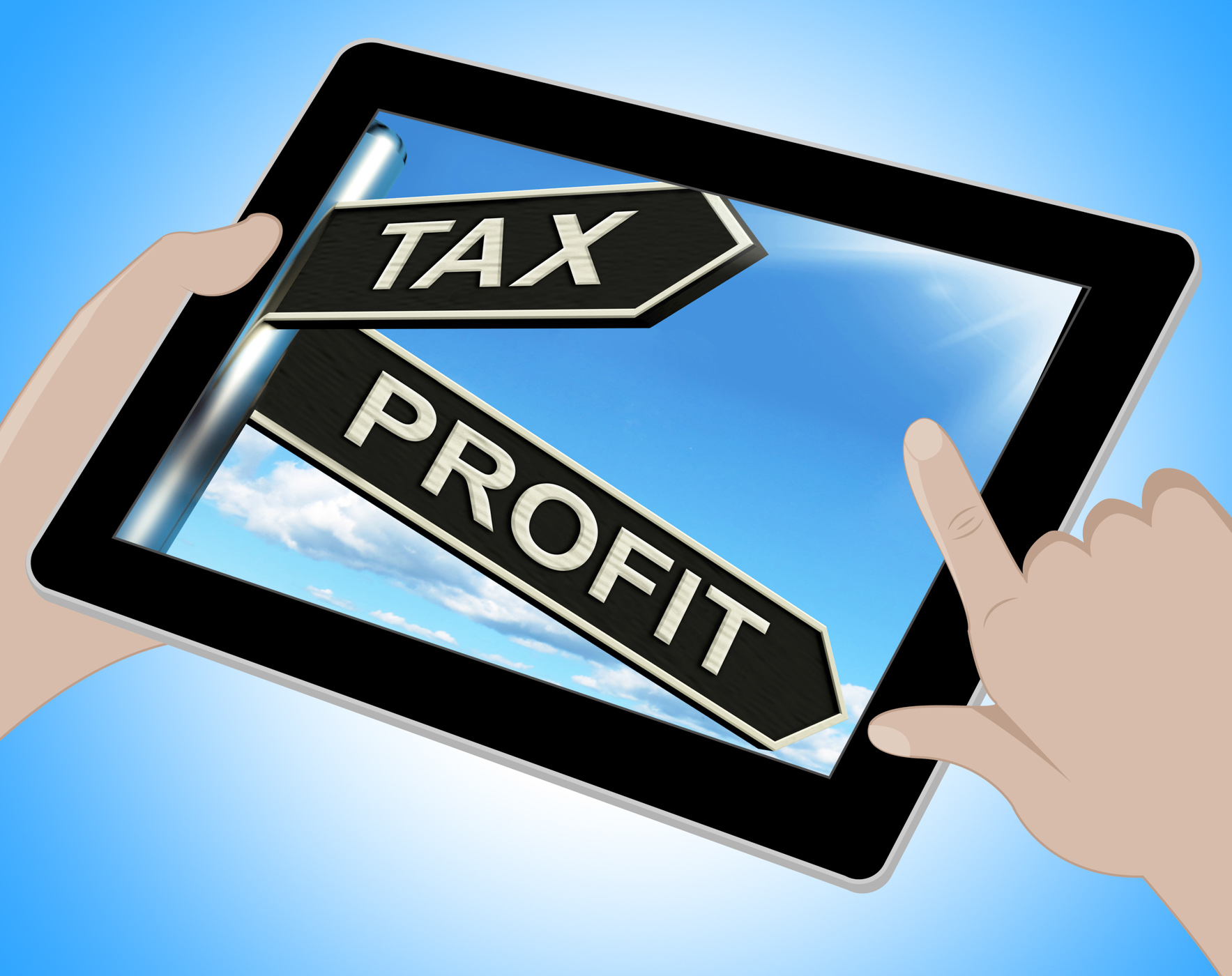Tax profit tablet means taxation of earnings photo