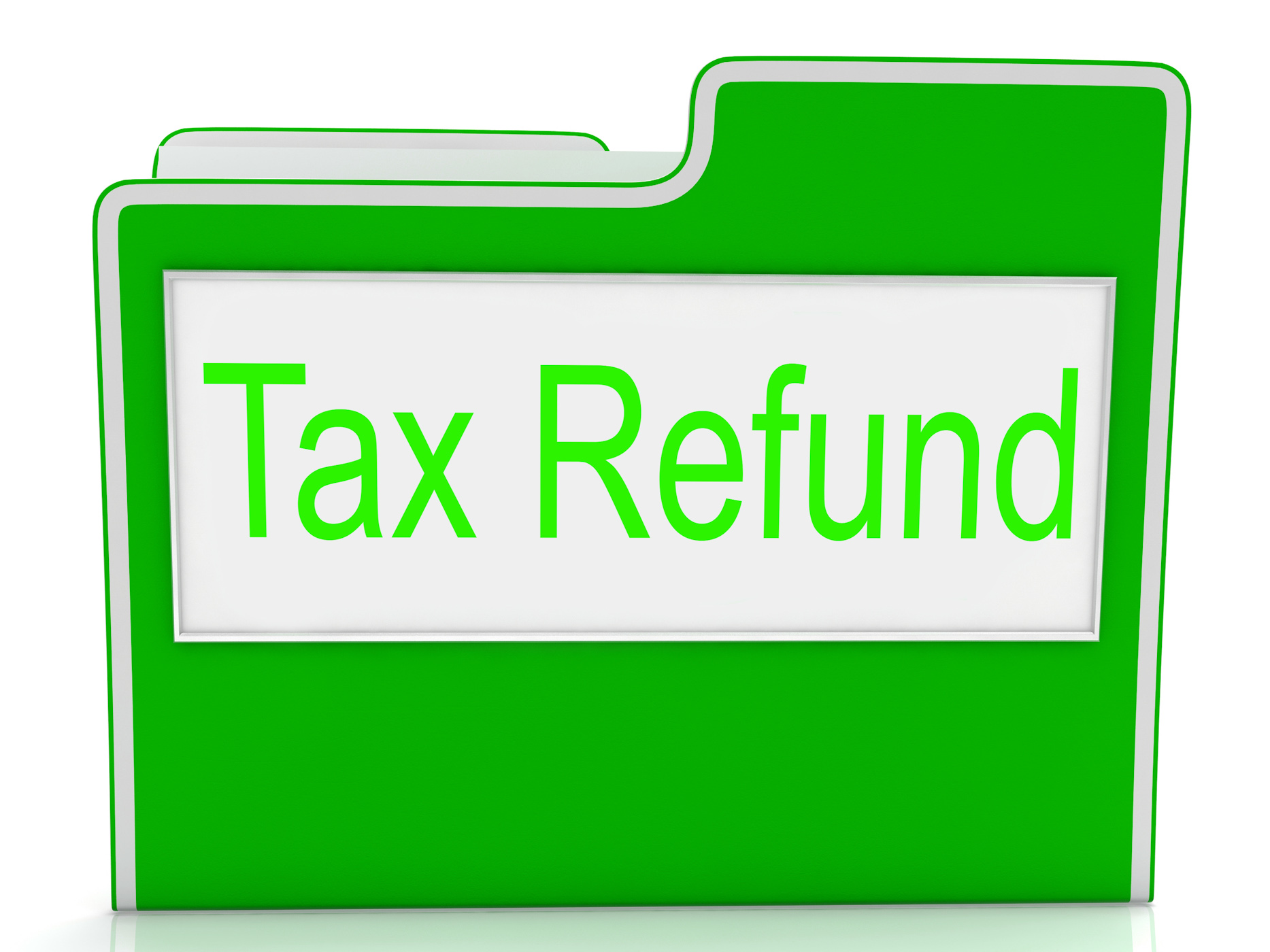 Tax refund shows taxes paid and business photo