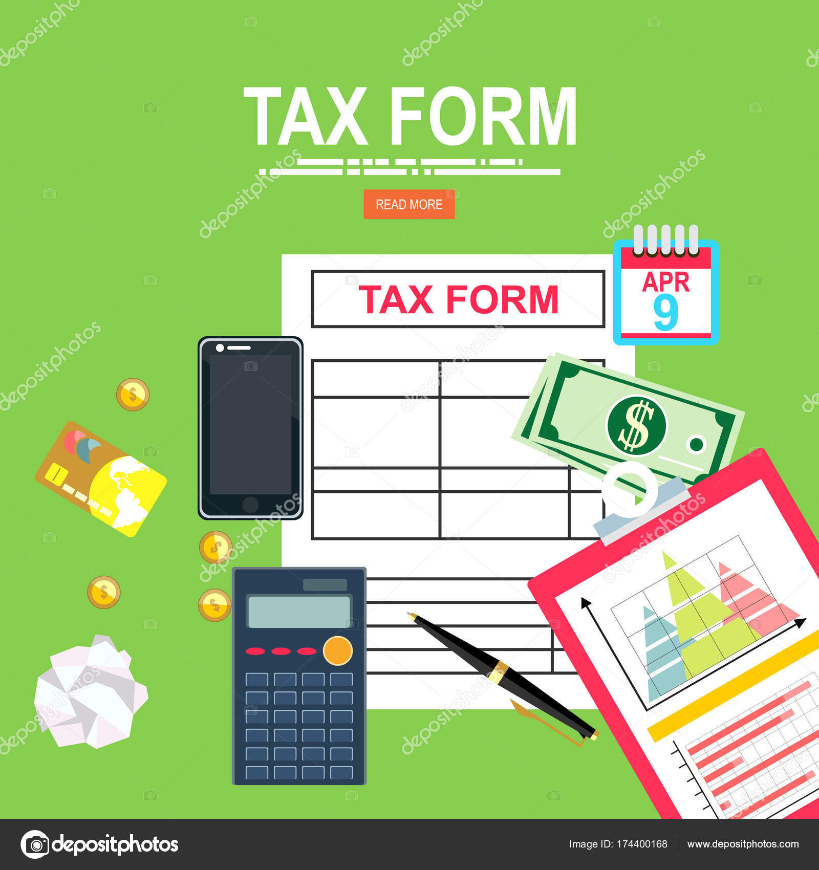 Tax Payment Concept State Taxes Vector Illustration Businessman ...