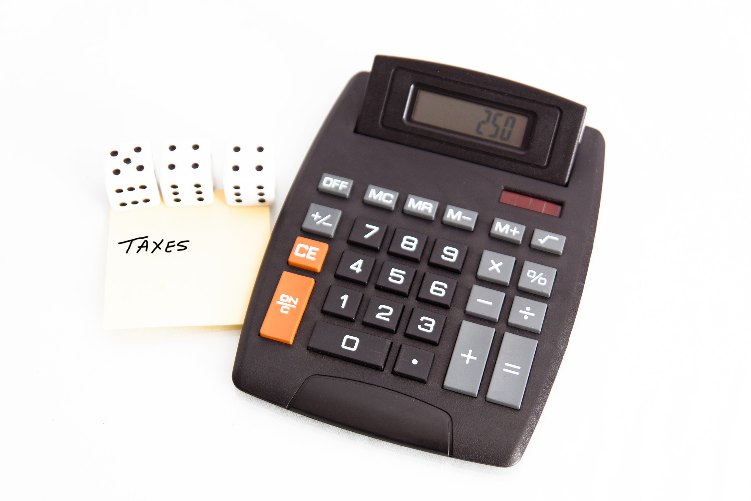 Taxes concept, Account, Note, Workplace, Technology, HQ Photo