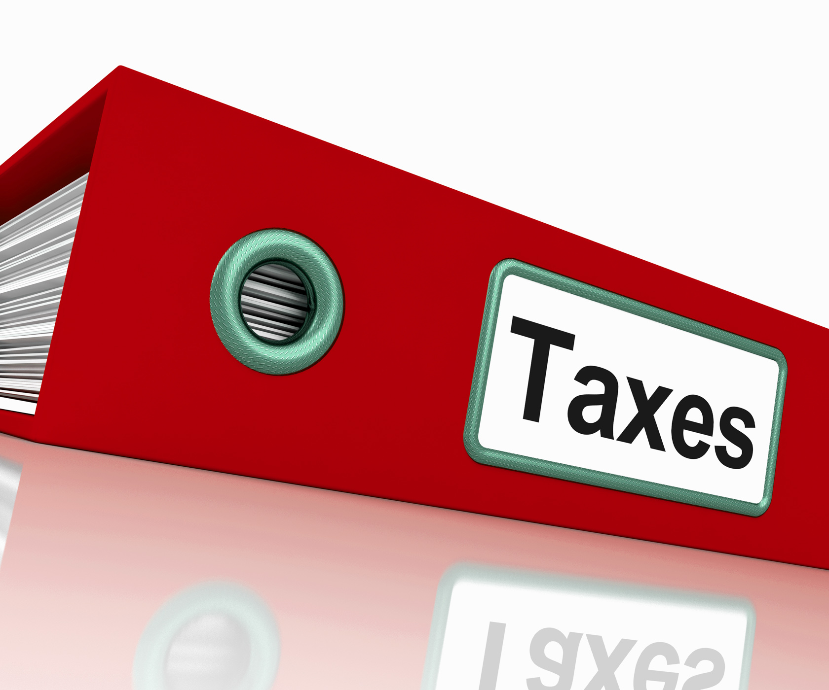 Taxes file contains taxation reports and documents photo