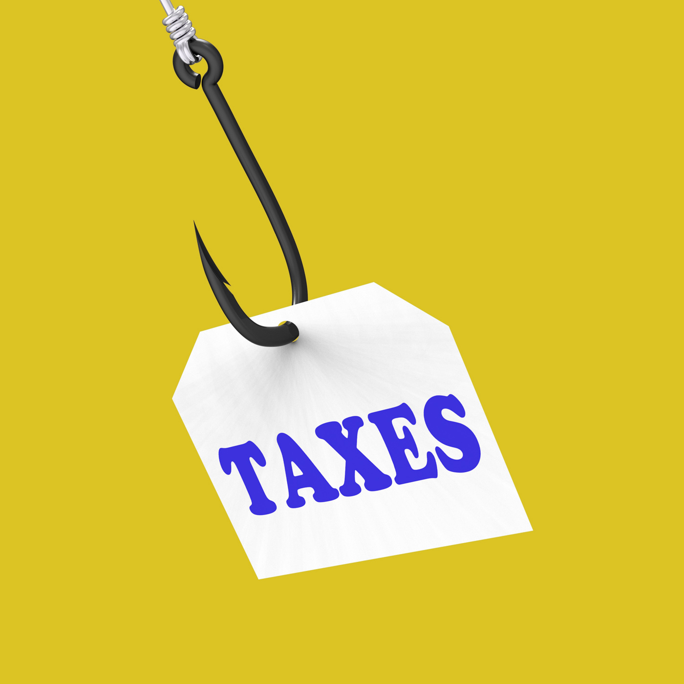Taxes on hook means taxation or legal fees photo