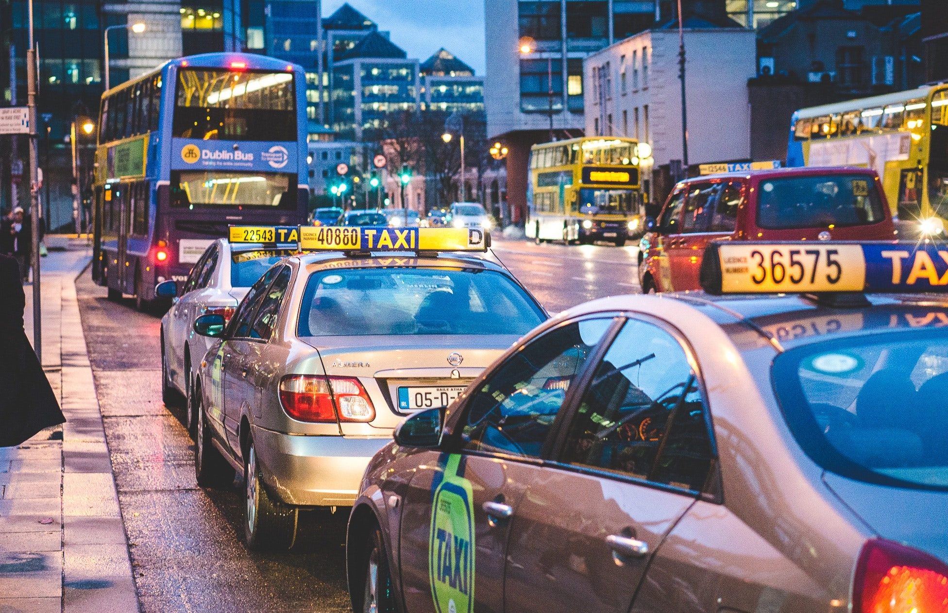 Taxi Overtaking Bus · Free Stock Photo