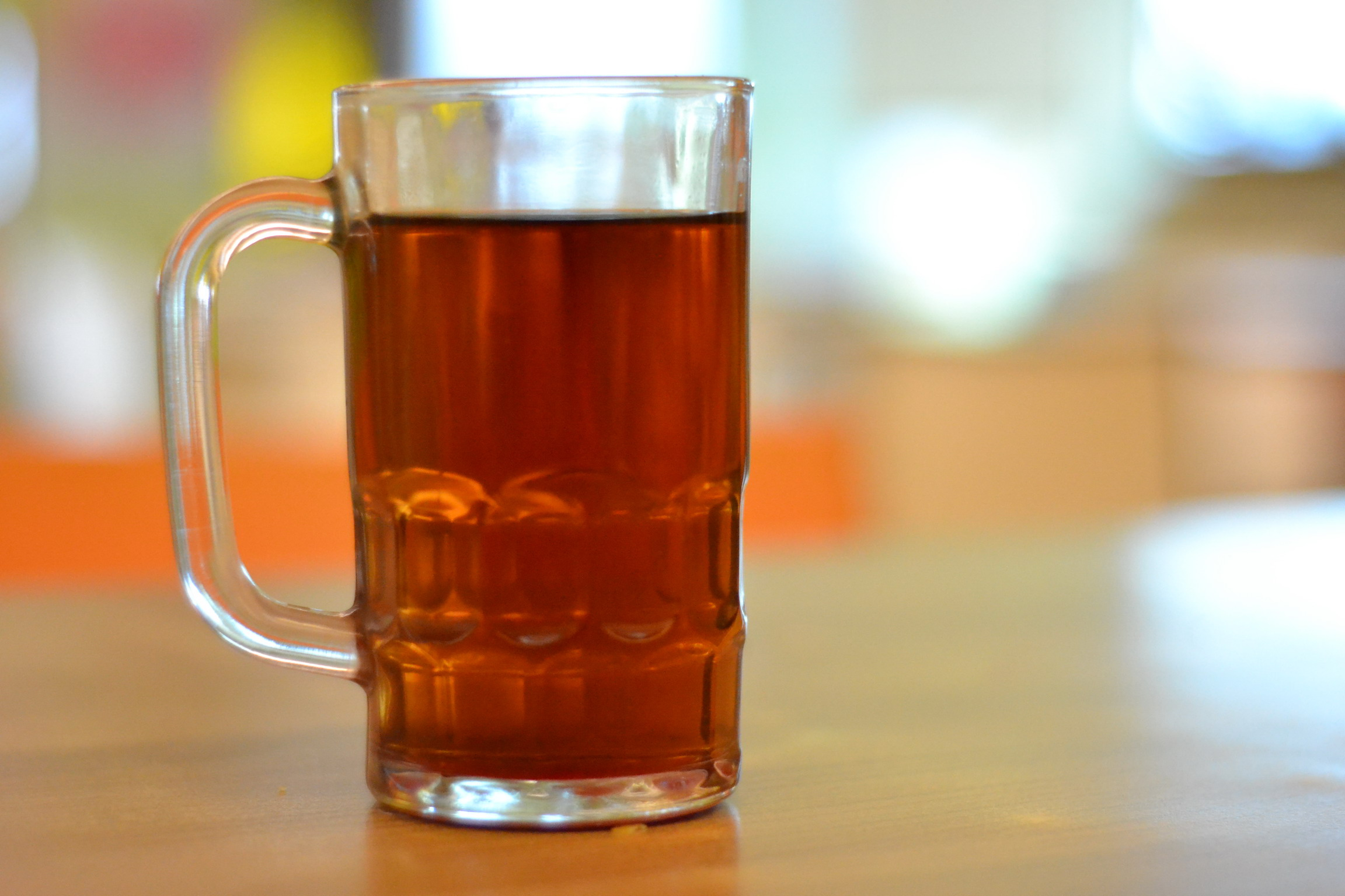 Tea in a bear glass photo