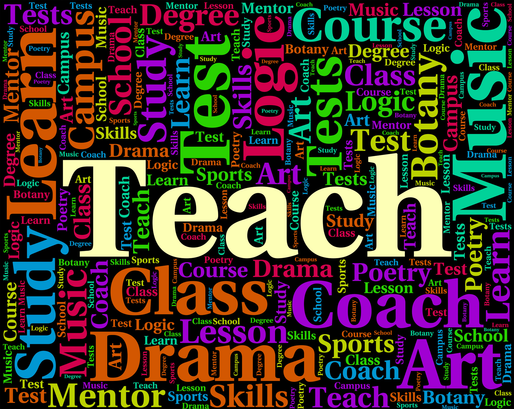 Teach word indicates give lessons and coaching photo