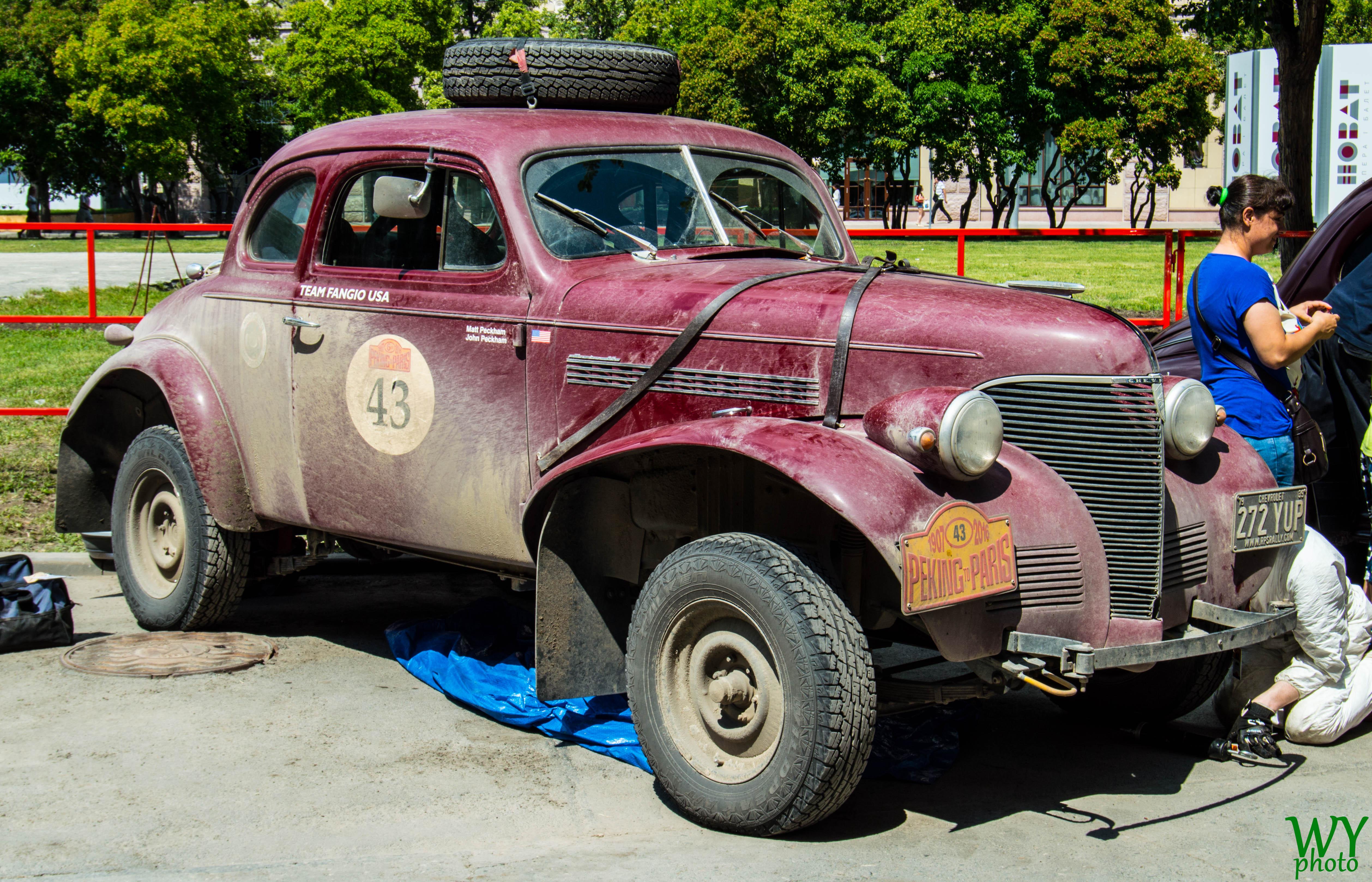 Team Fangio 1939 Chevrolet Coupe, Car, Novosibirsk, Outdoor, PekingtoParis, HQ Photo