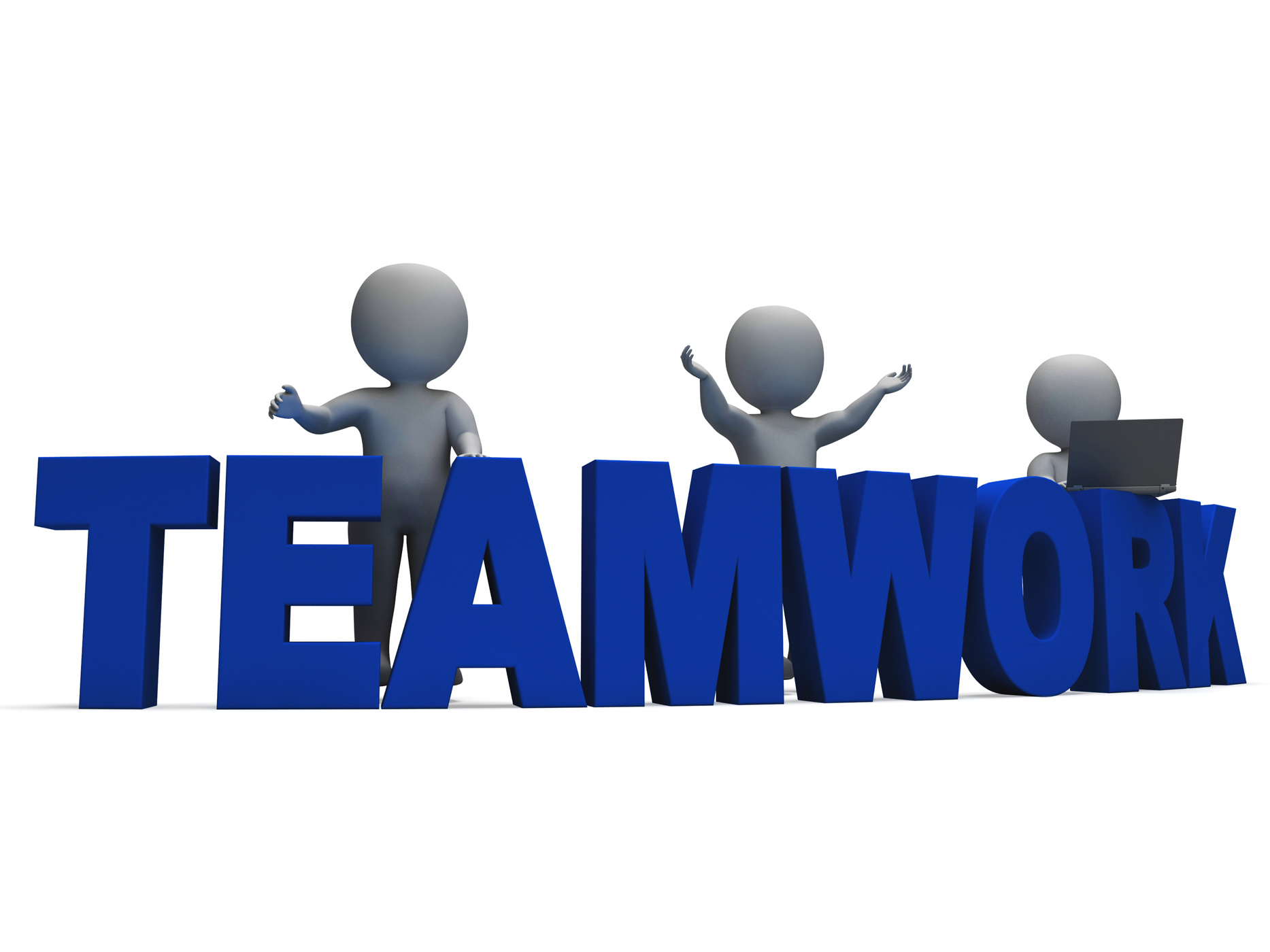 Teamwork Showing 3d Characters Working Together, 3d, Workingtogether, Unity, Union, HQ Photo