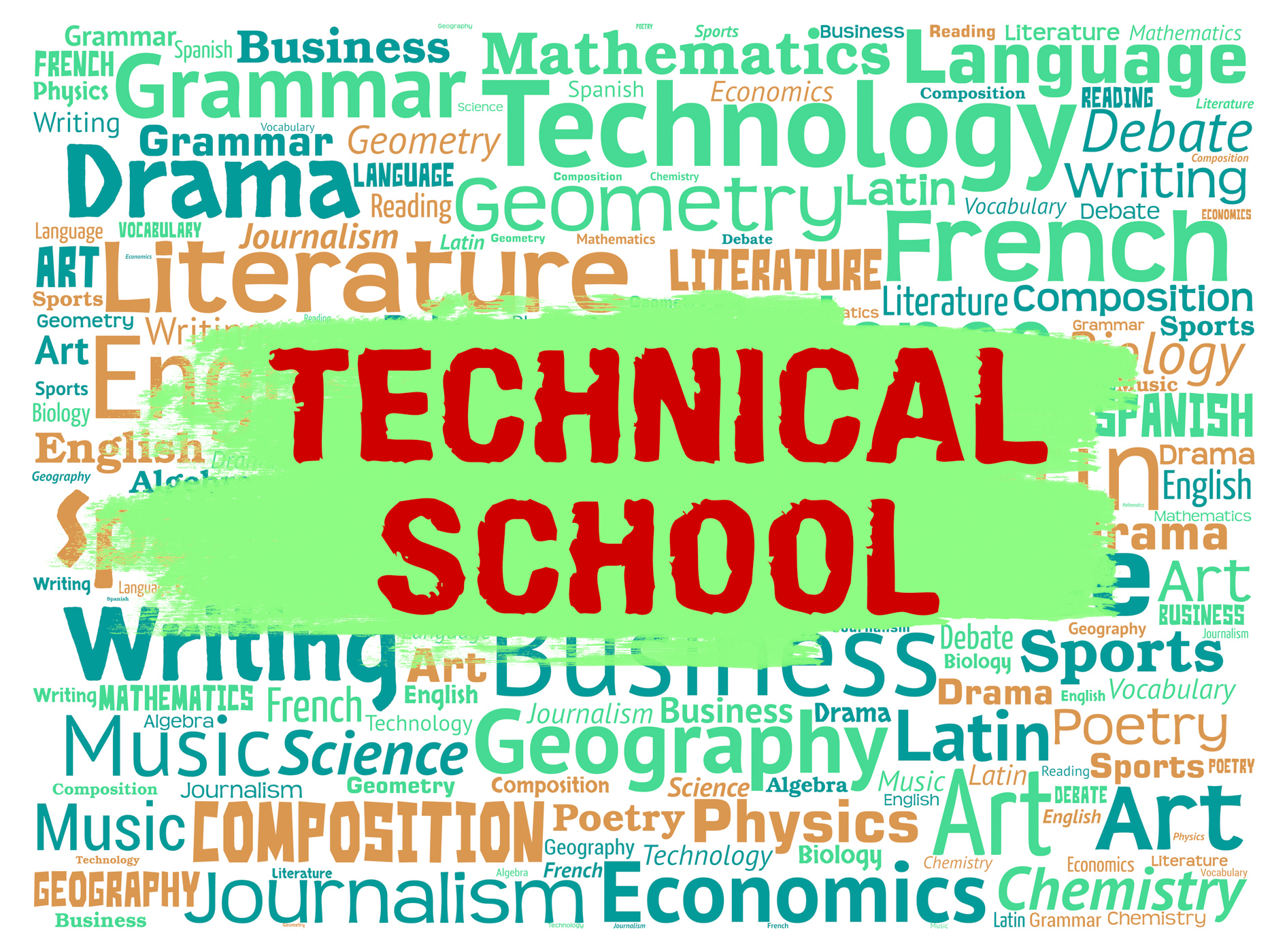 Technical school indicates specialist education and learning photo