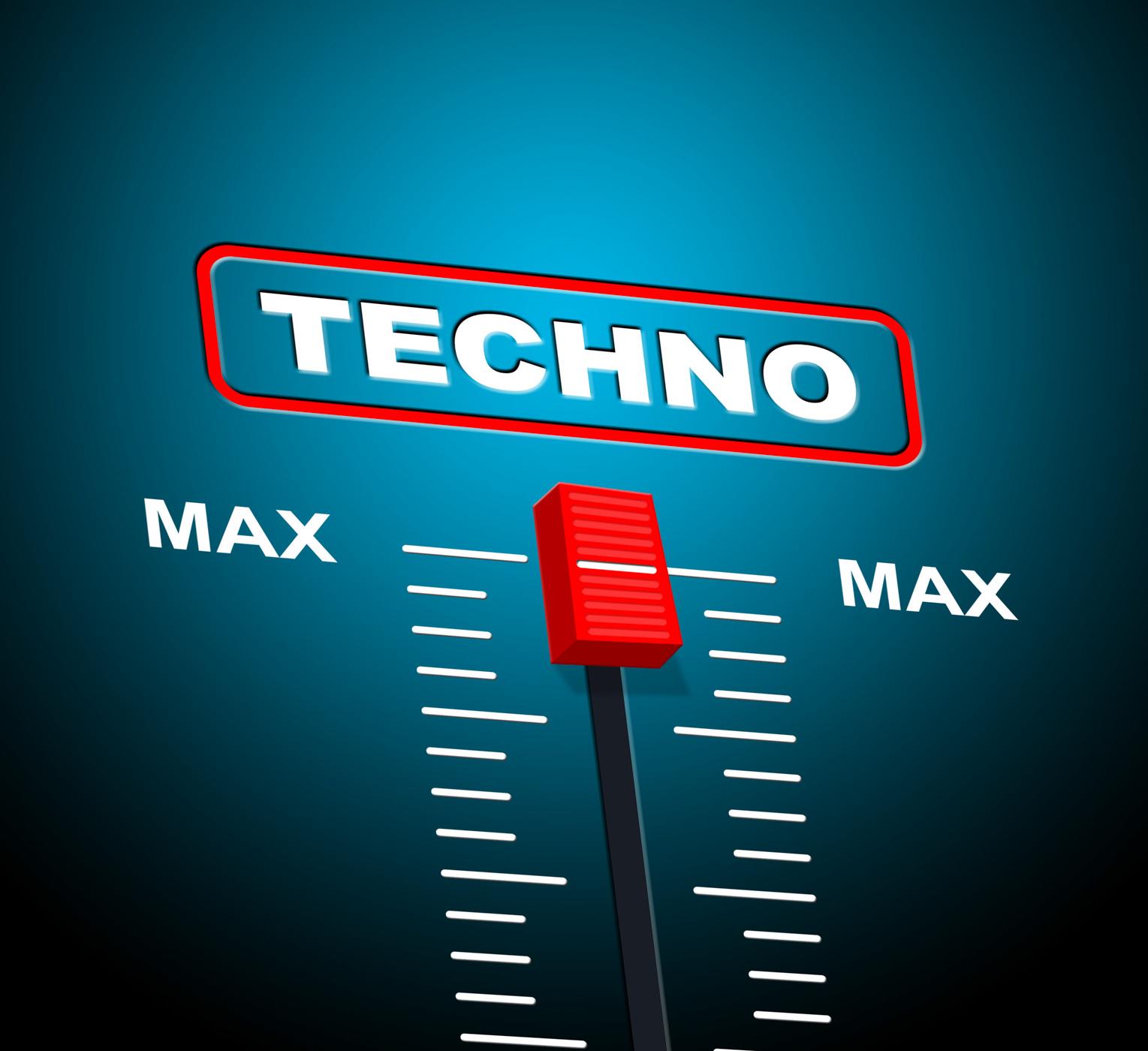 Techno music indicates sound track and celebration photo