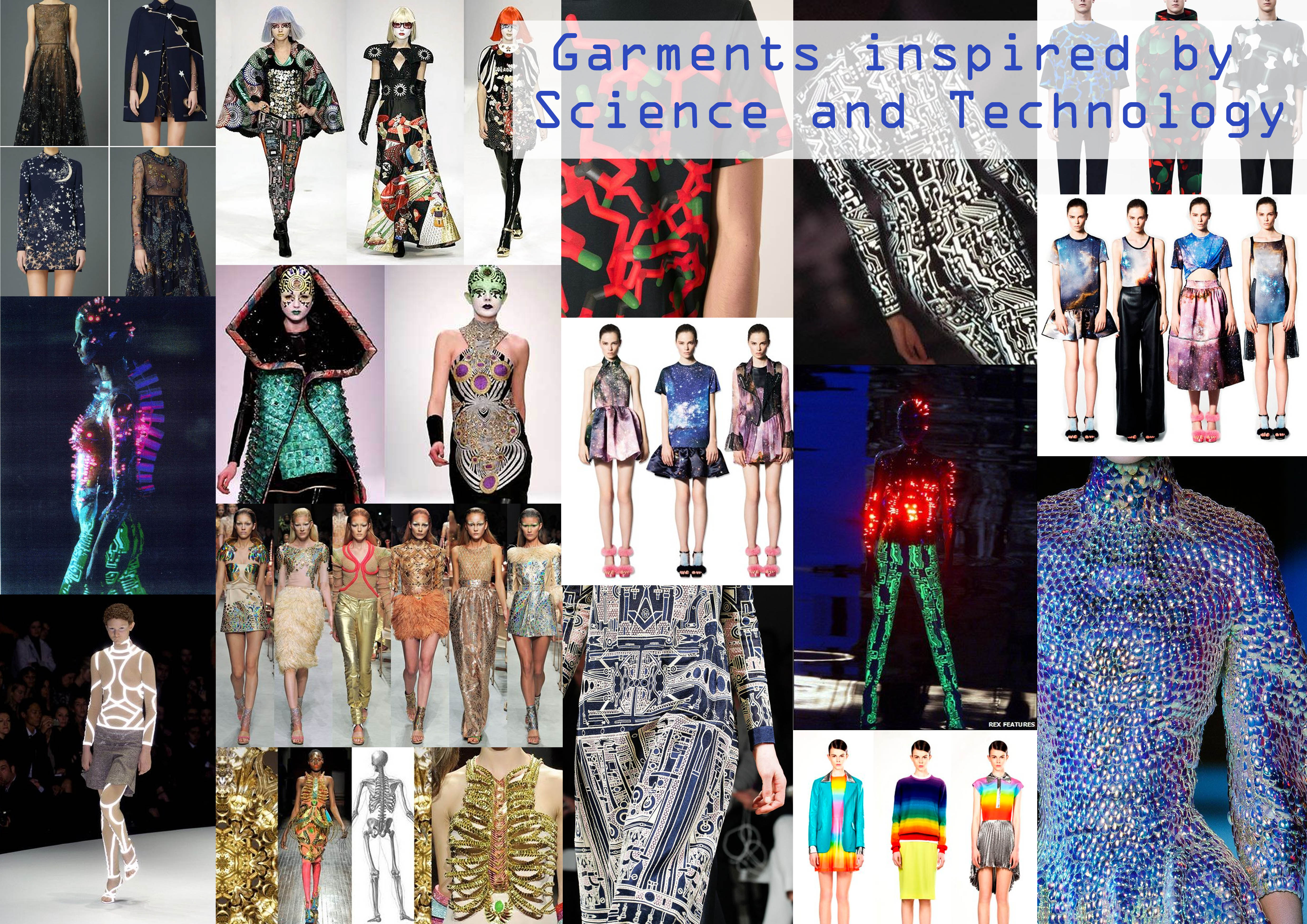 Science & Technology Moodboard | Technological advances in fashion ...