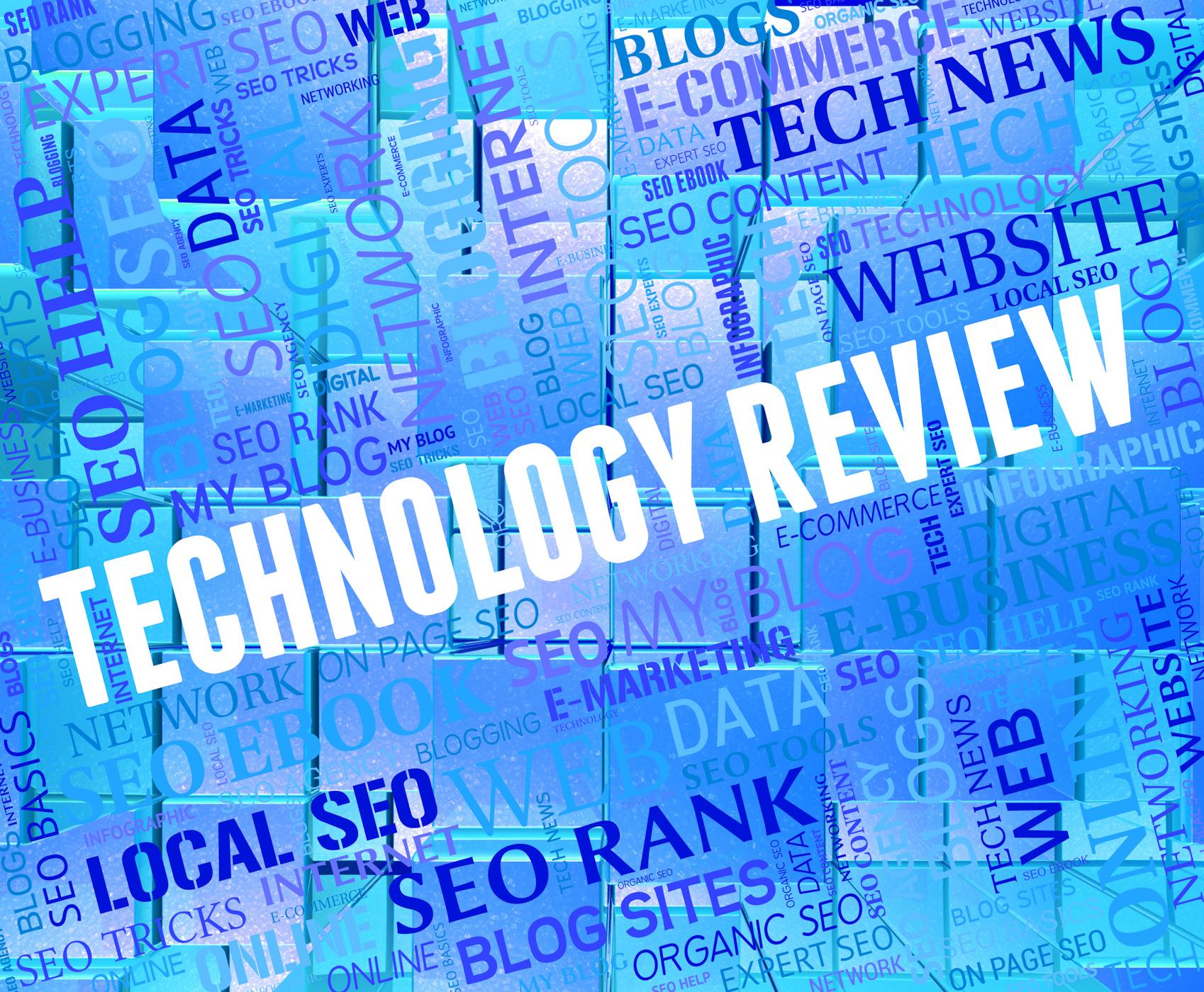 Technology review shows evaluation appraisal and electronic photo