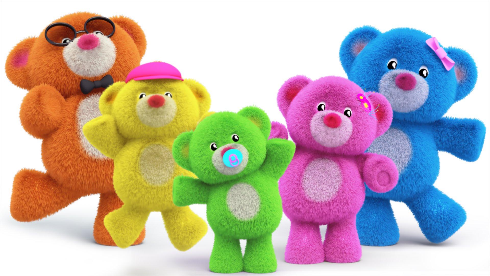 teddy bear finger family | teddy bear turn around | nursery rhymes ...