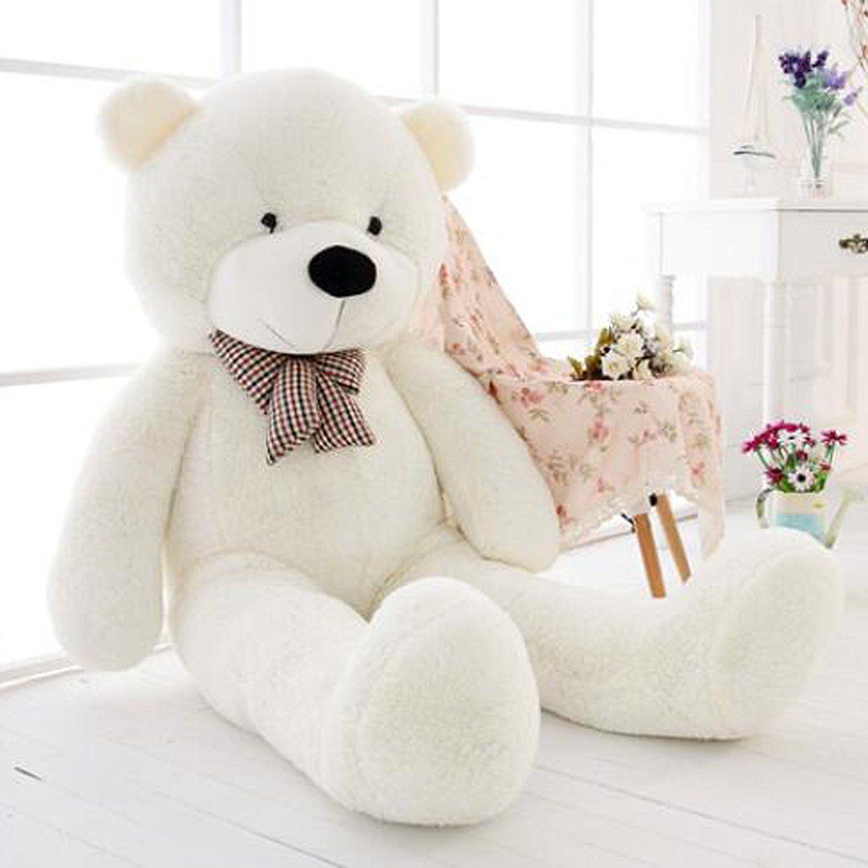 47inch Giant Big Huge White Teddy Bear Plush Stuffed Soft Toys dolls ...