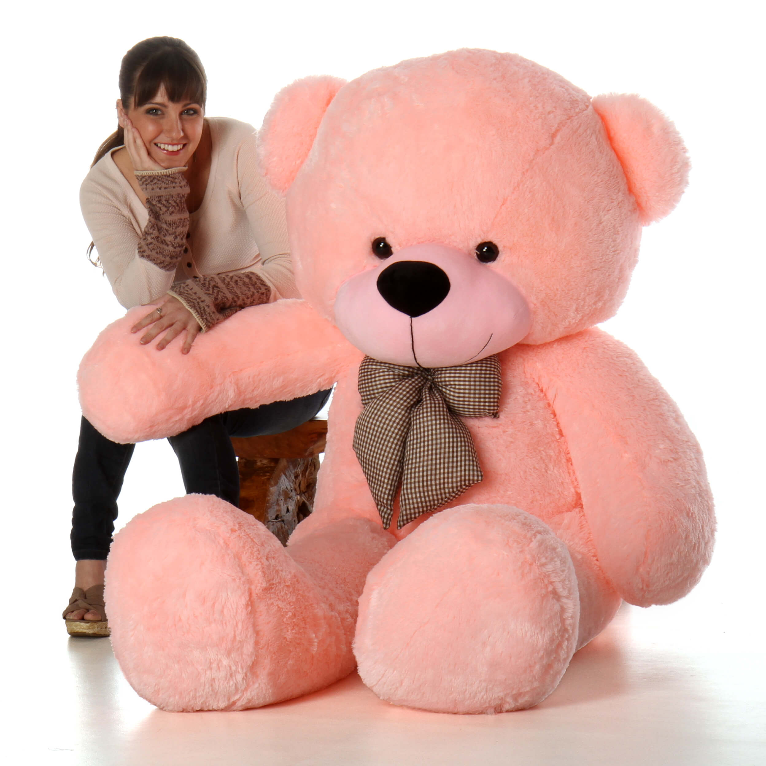 6ft Giant Life Size Pink Teddy Bear Lady Cuddles