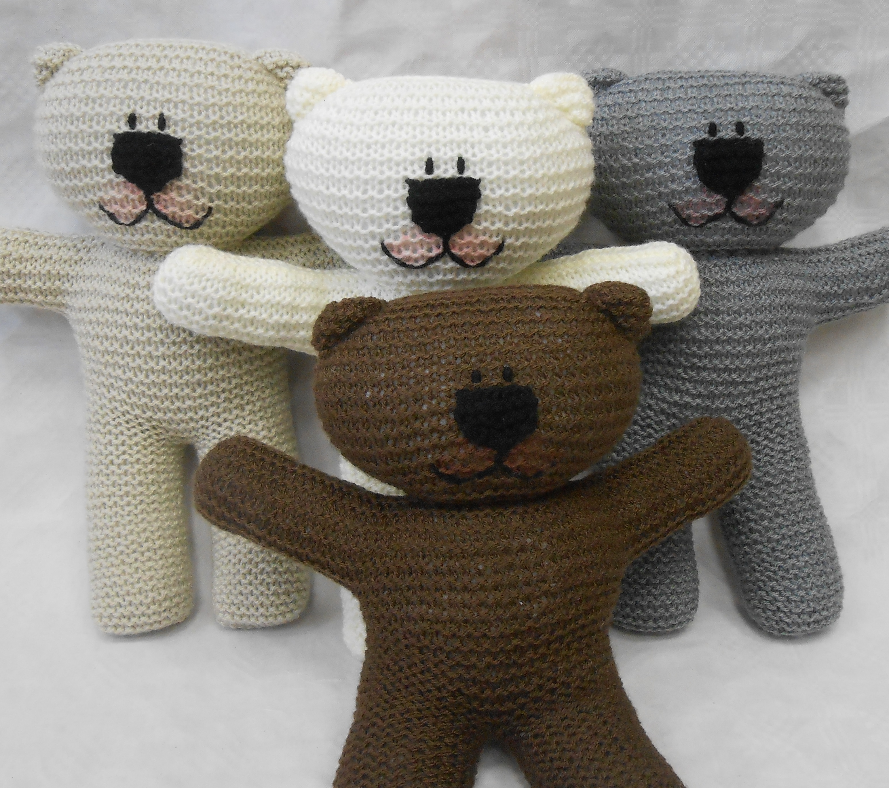 Contemporary Teddy Bear Knitting Pattern Free Image - Easy Scarf ...
